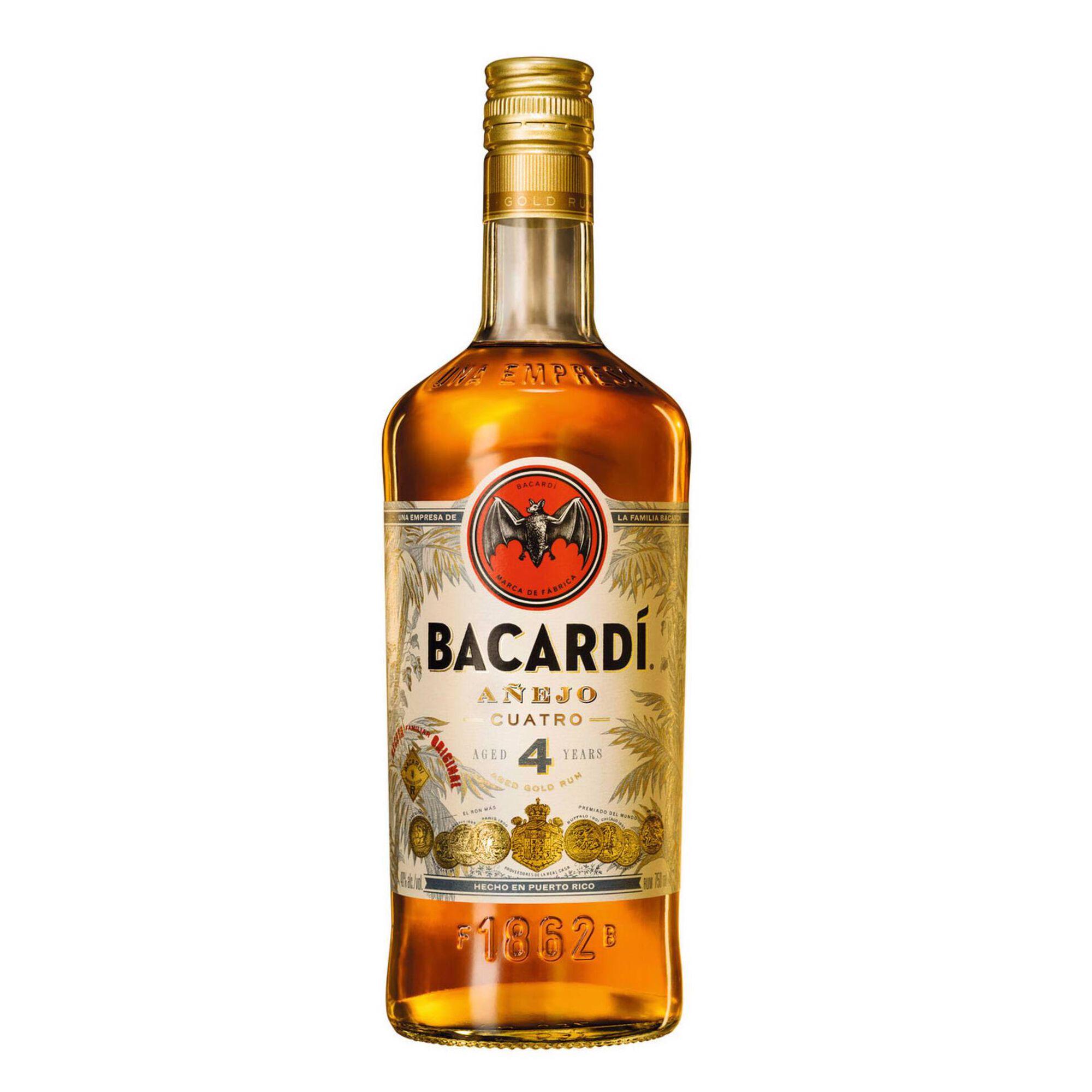 Rum Bacardi Añejo Cuatro