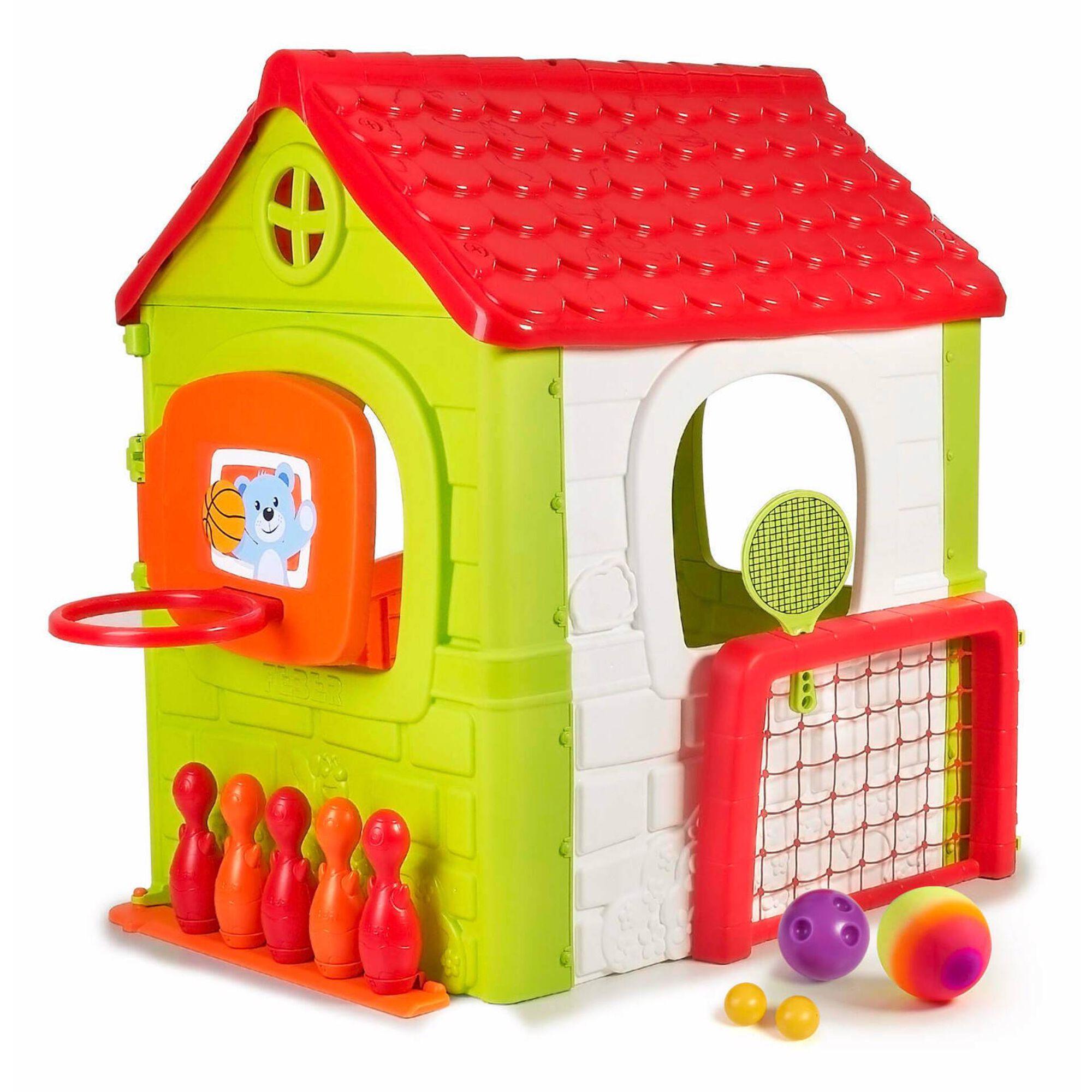 Casa de Brincar Multiatividades 6-em-1