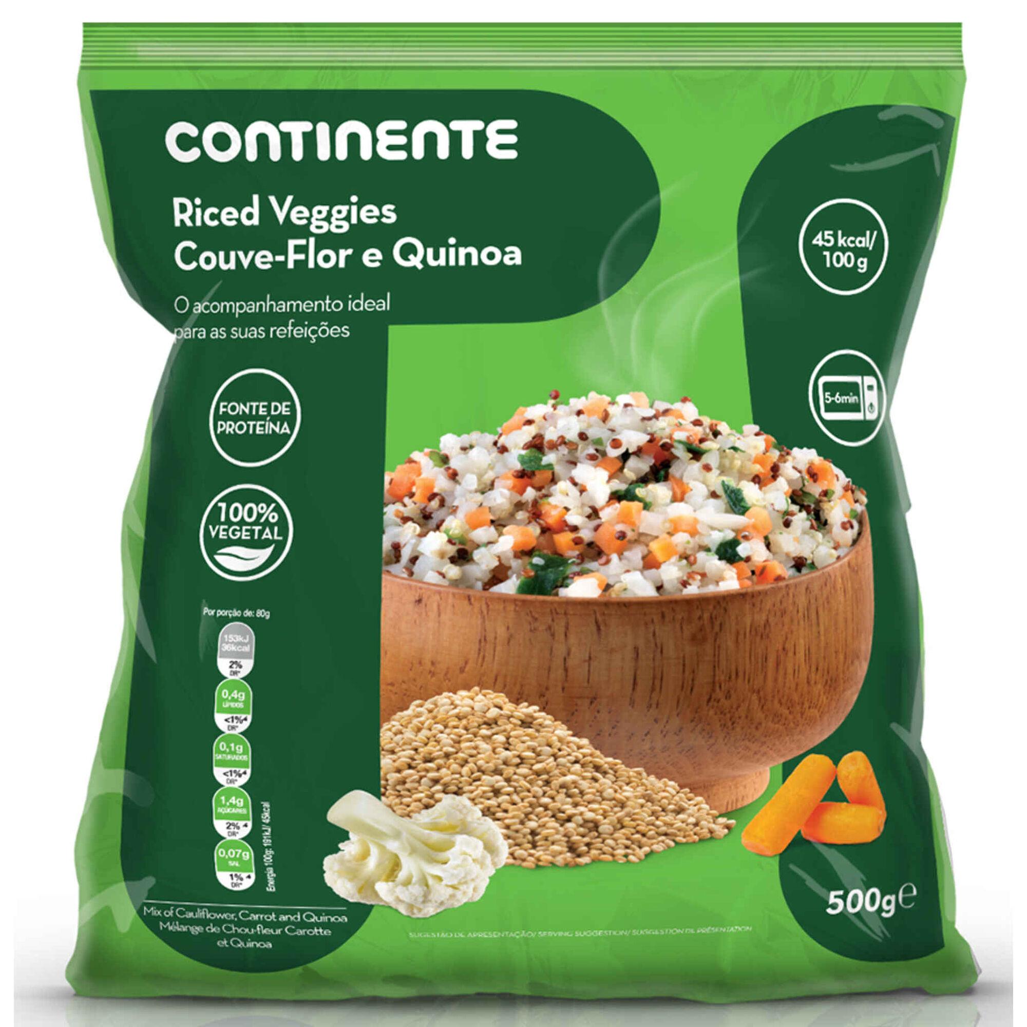Riced Veggies de Couve-flor e Quinoa