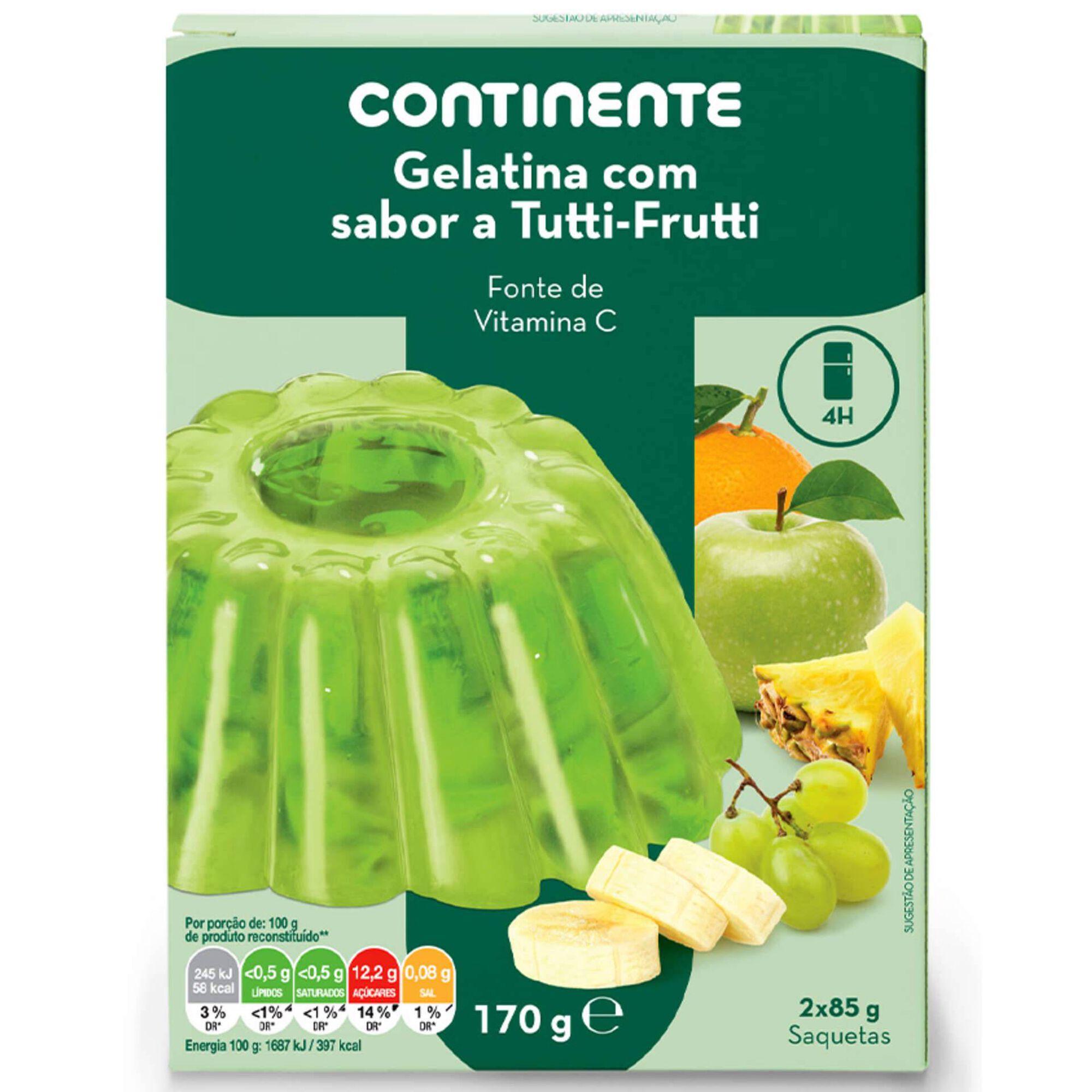 Gelatina em Pó Tutti-Fruti