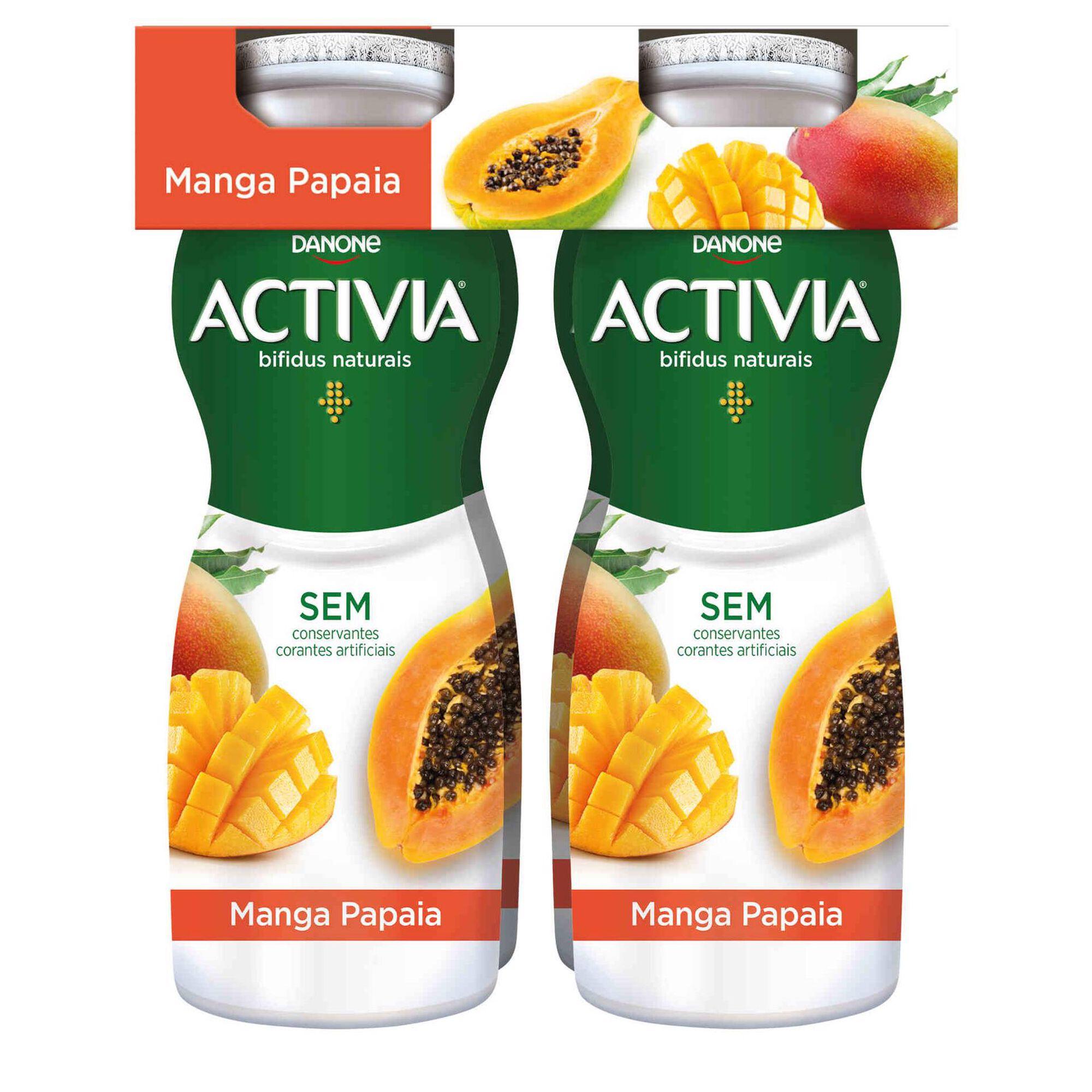 Iogurte Líquido Bifidus Probióticos Manga e Papaia Activia