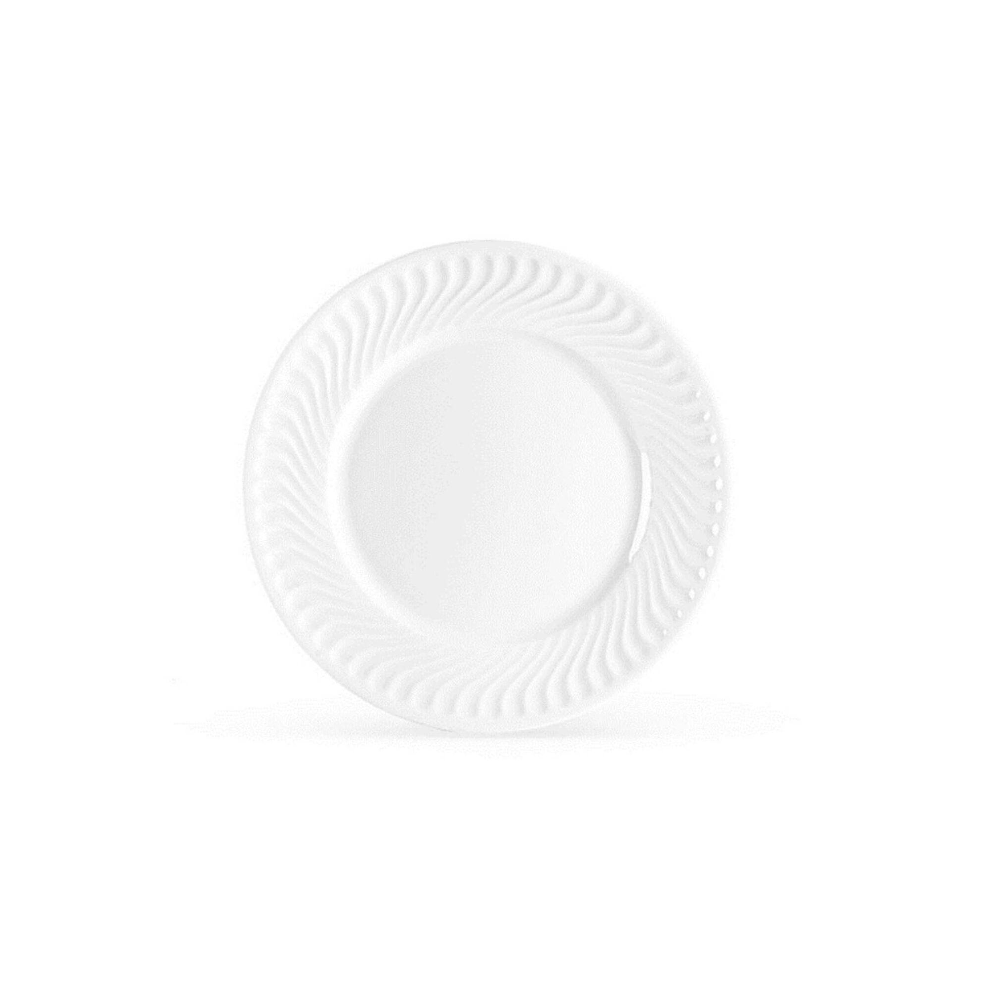 Prato Sobremesa 22cm Branco Sagres