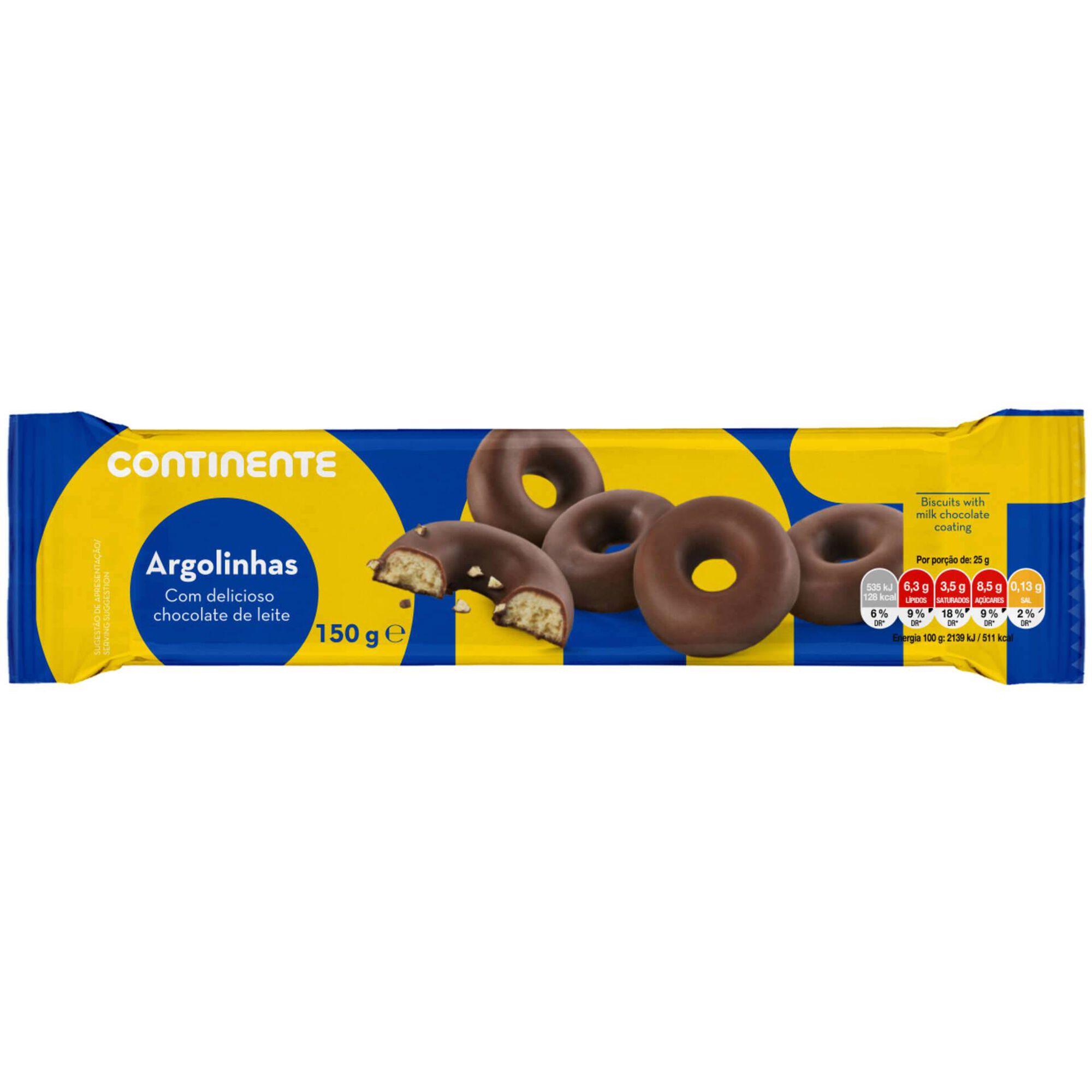 Bolachas Argolinhas com Cobertura Chocolate de Leite