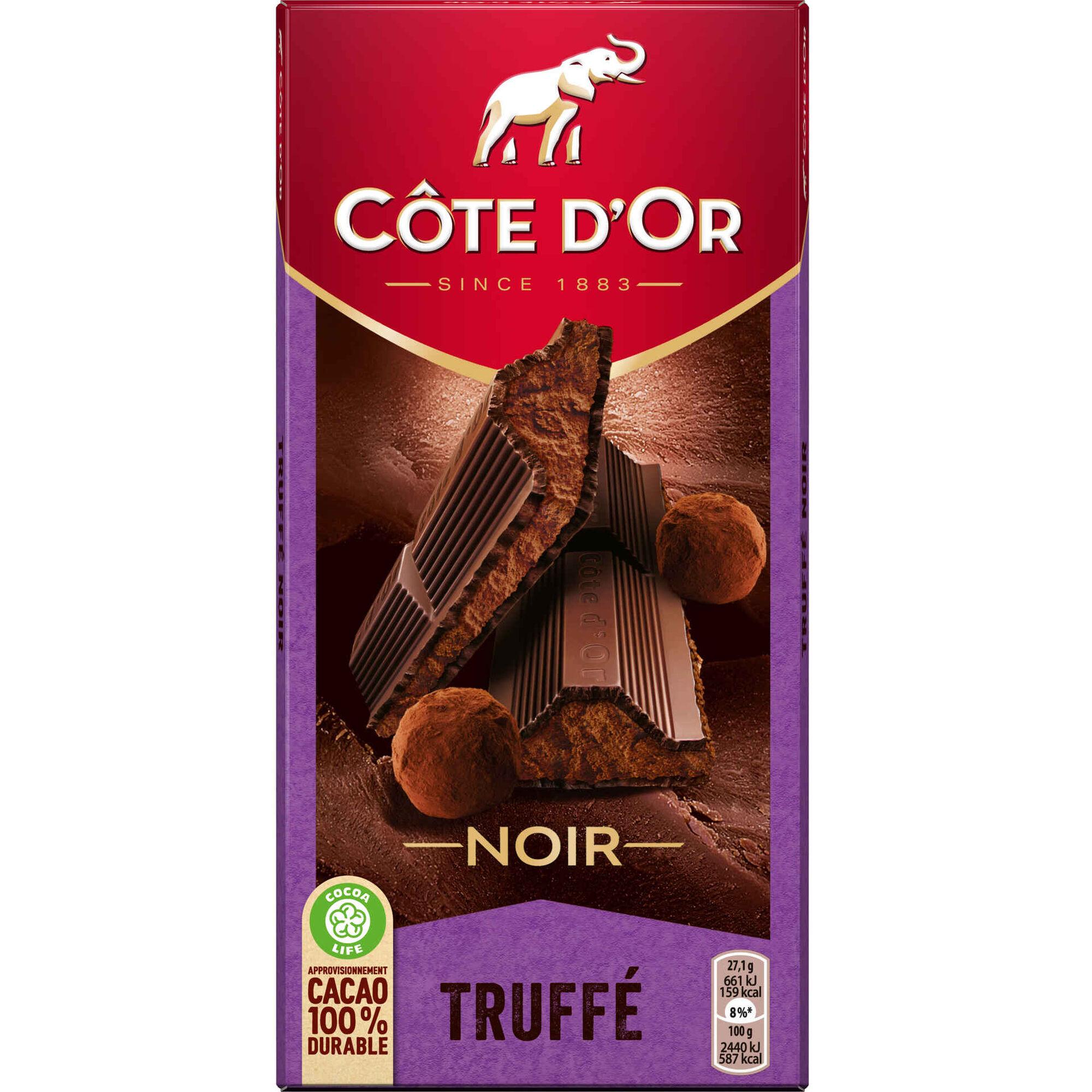 Tablete de Chocolate Negro Truffé