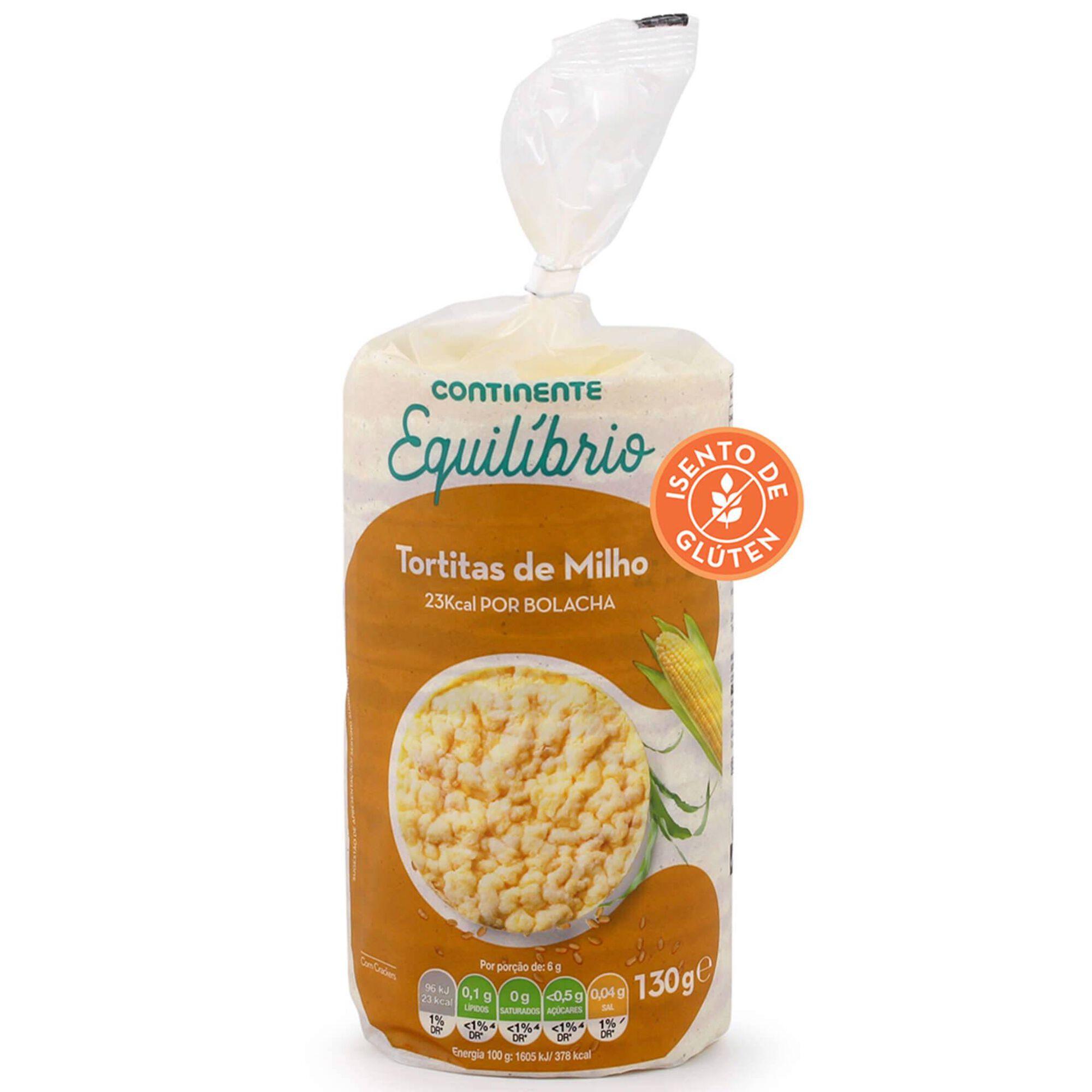 Tortitas de Milho com Sal sem Glúten