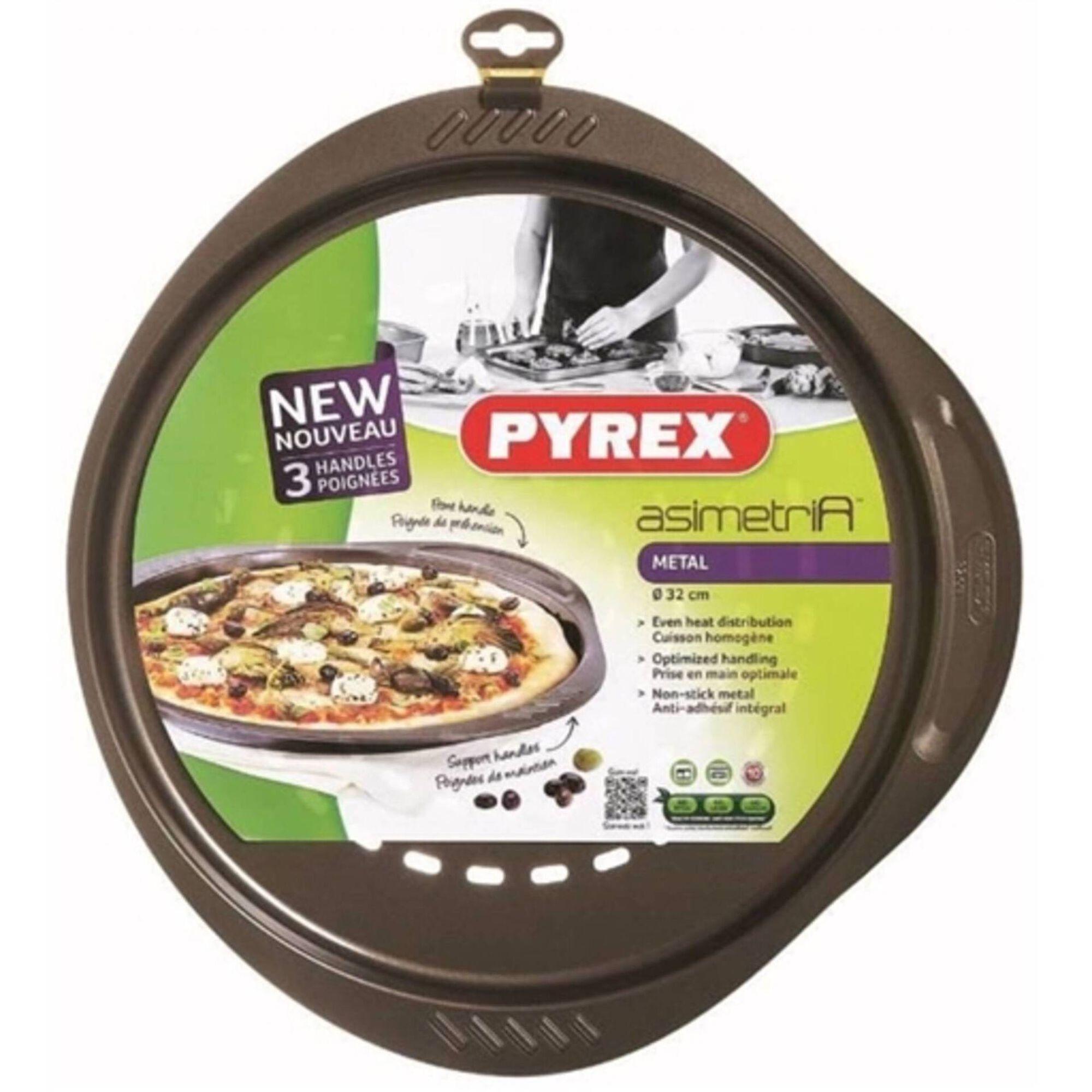 Forma Pizza Metal 32cm Castanha Asimetria