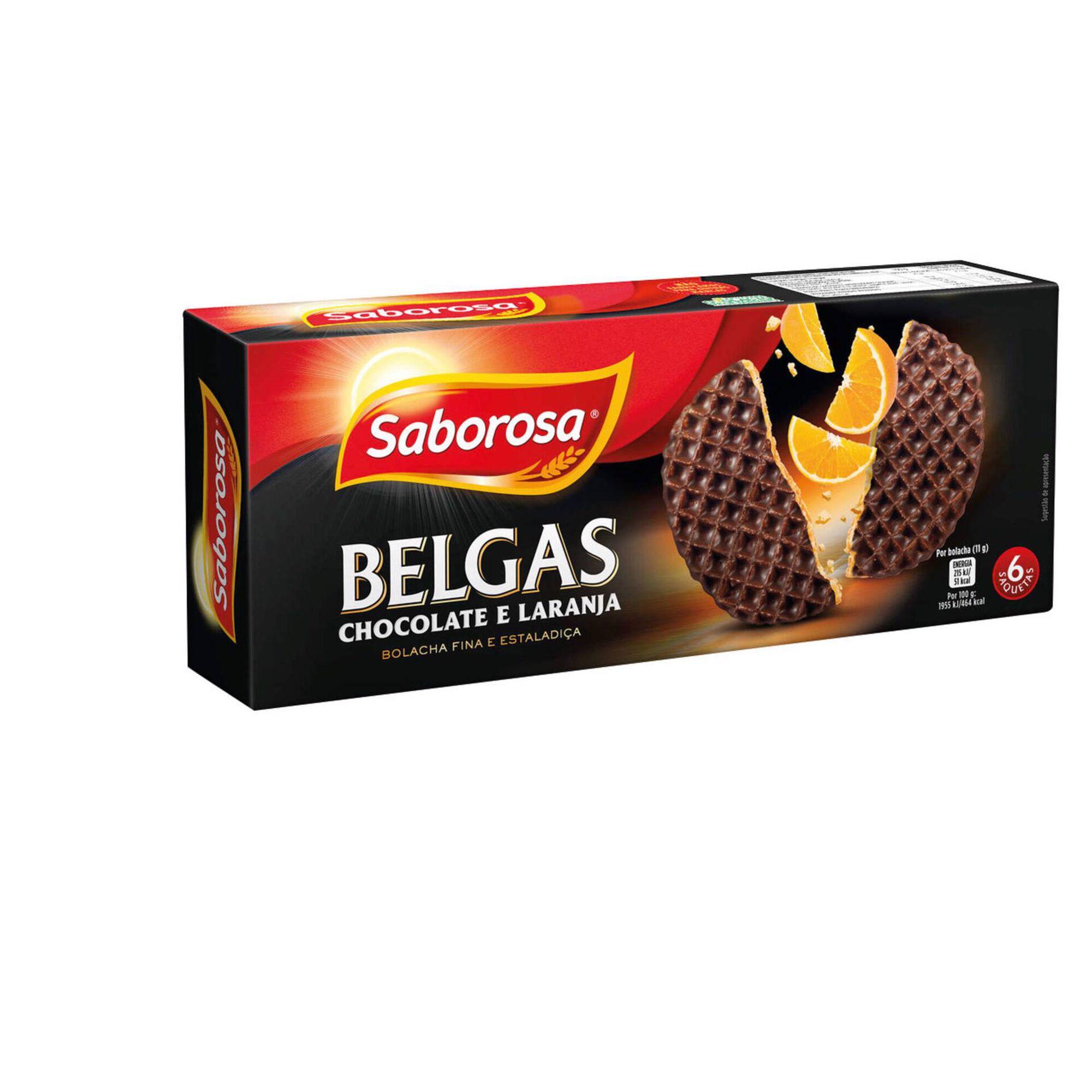 Bolachas Belgas Chocolate e Laranja