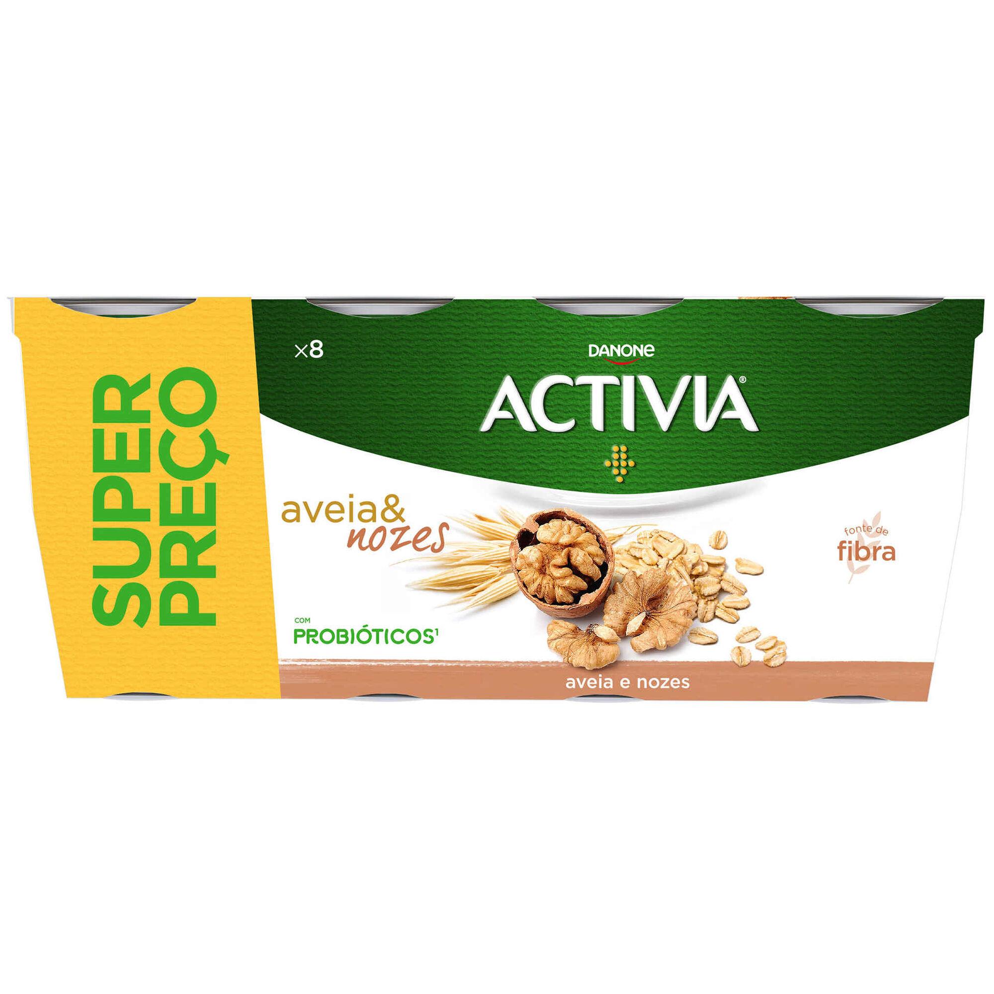 Iogurte Bifidus Pedaços Aveia e Noz Activia