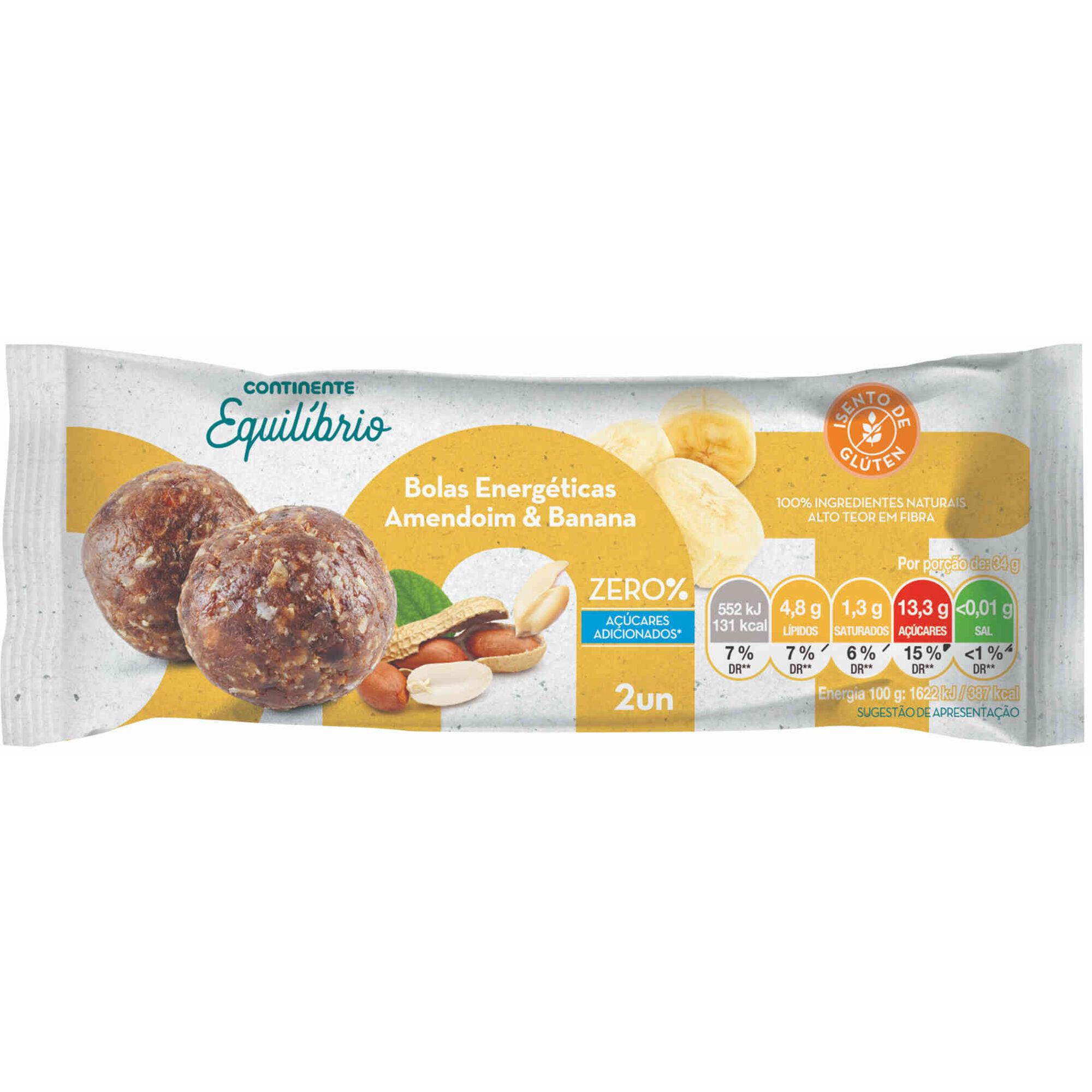 Bolas Energéticas de Amendoim e Banana sem Glúten