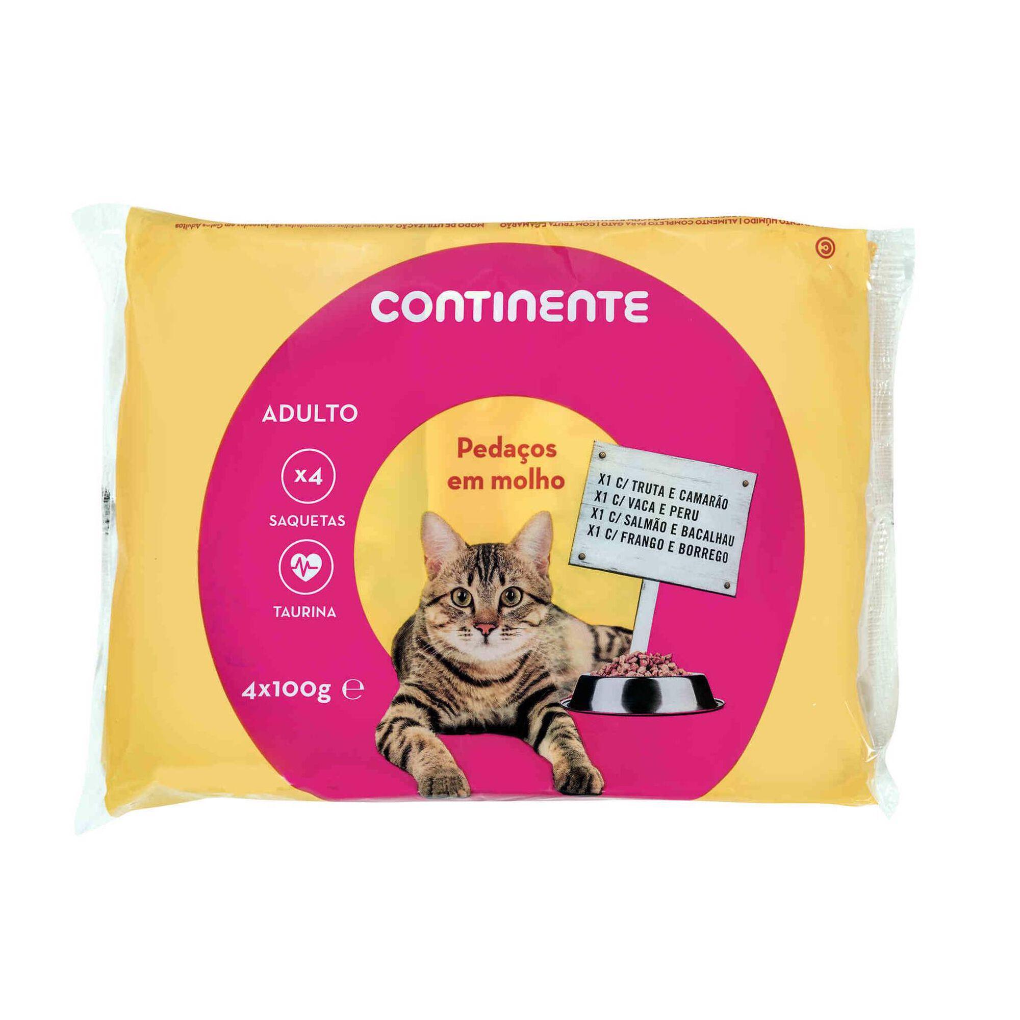 Comida Húmida para Gato Adulto Pedaços em Molho Saquetas