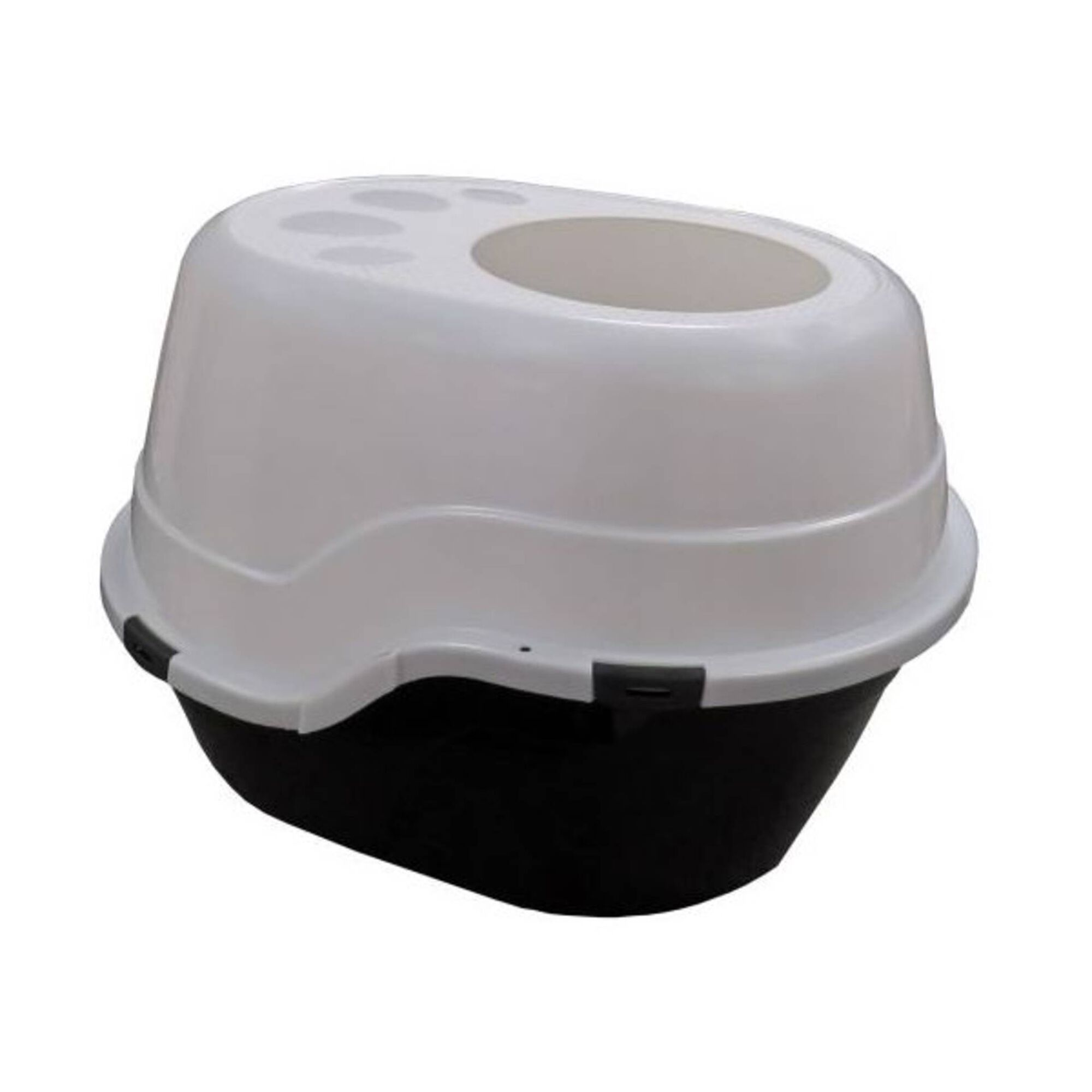 WC para Gato com Abertura Preto/Branco
