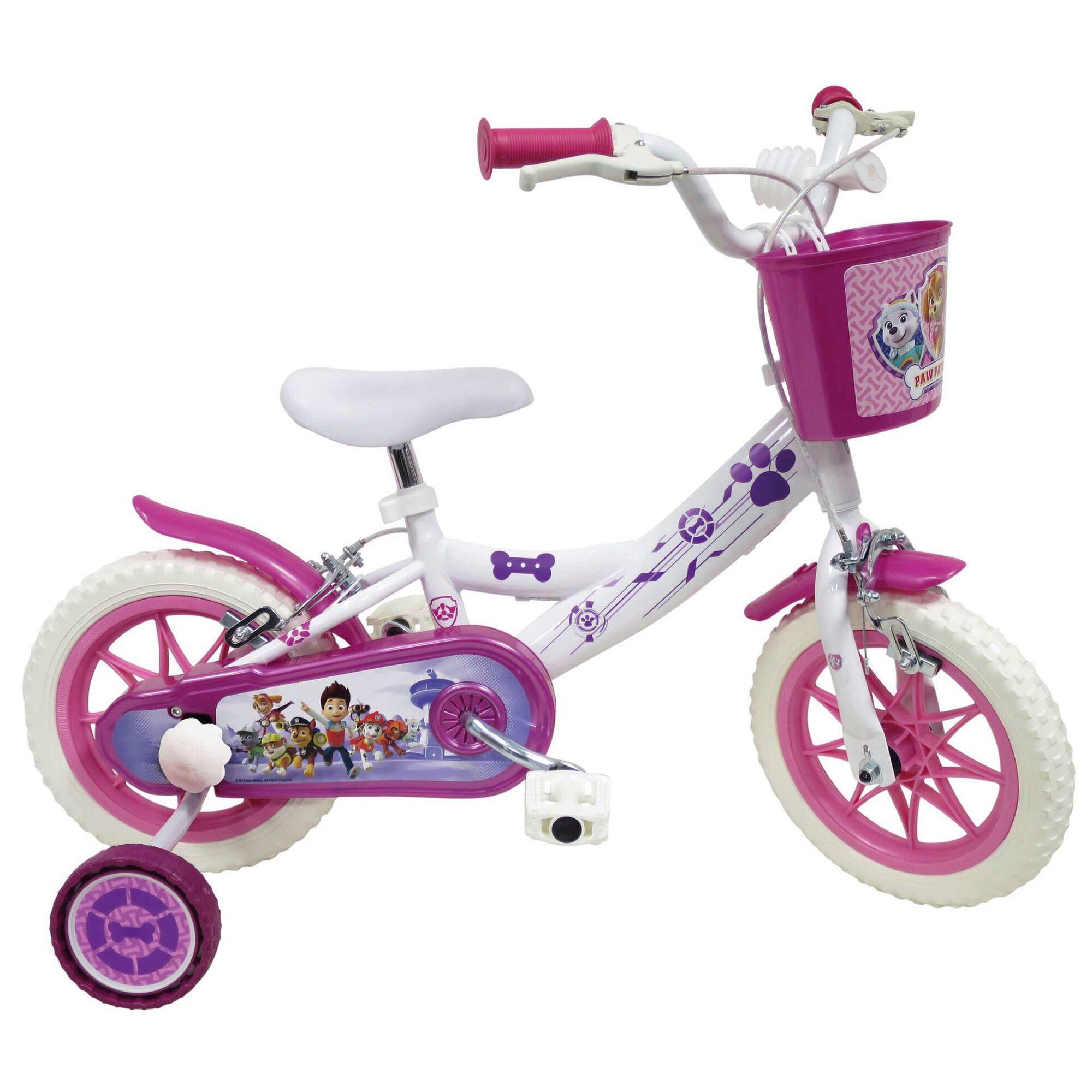 """Bicicleta Criança Roda 12"""" 3-5 Anos Rosa"""