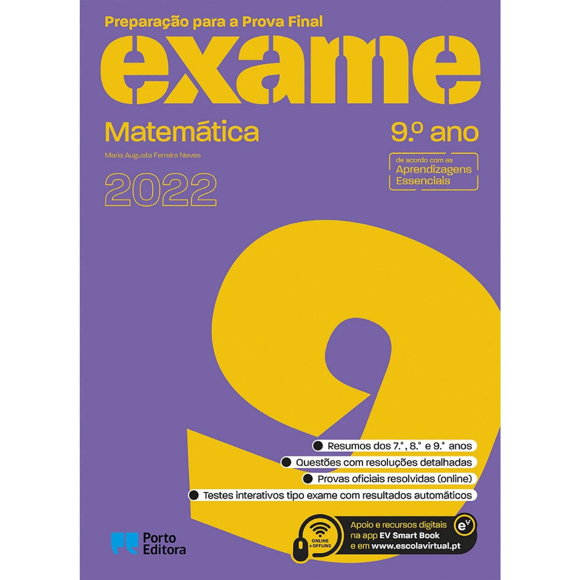 Preparação Para a Prova Final 2022 - Matemática - 9º Ano