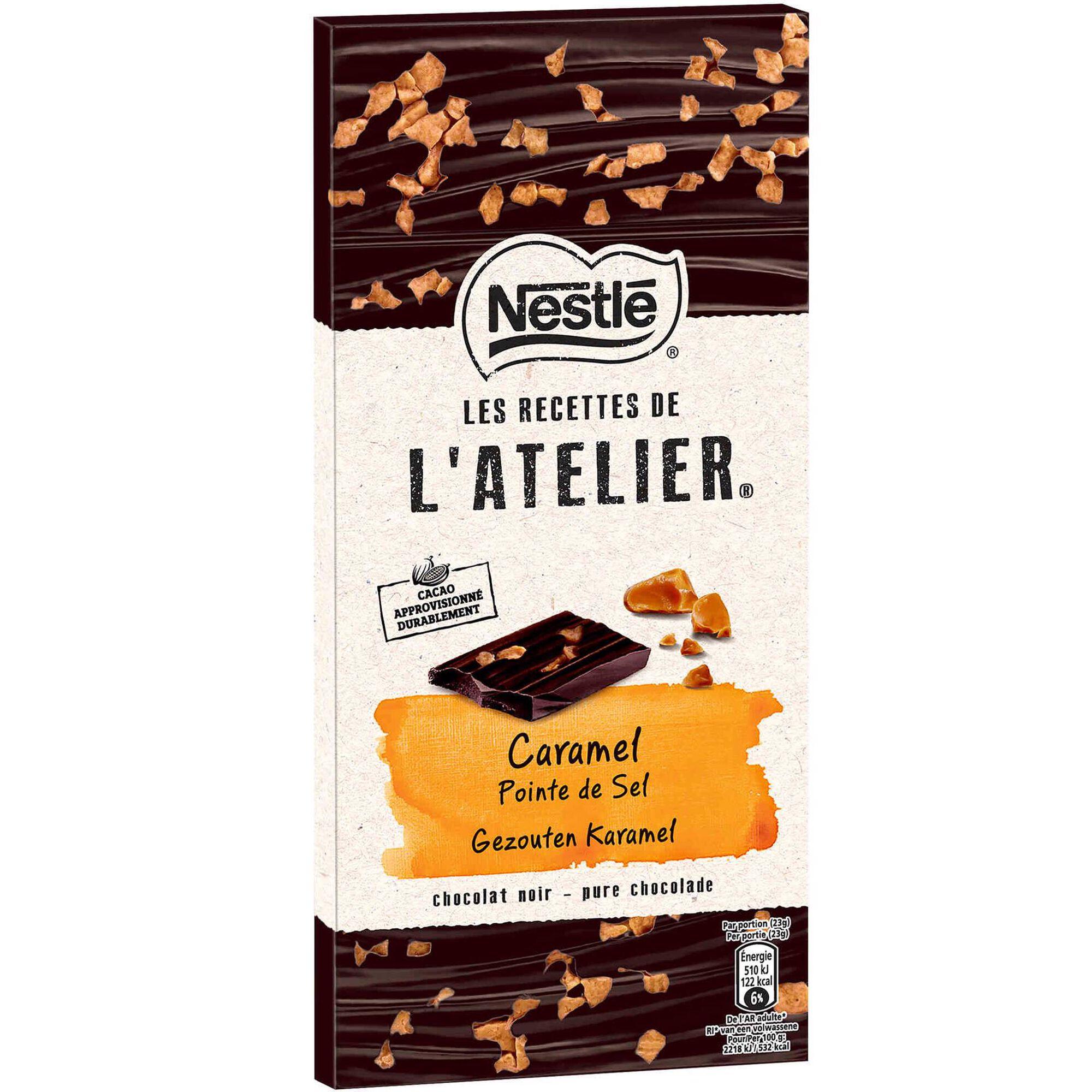 Tablete de Chocolate Negro com Caramelo Les Recettes de L'Atelier