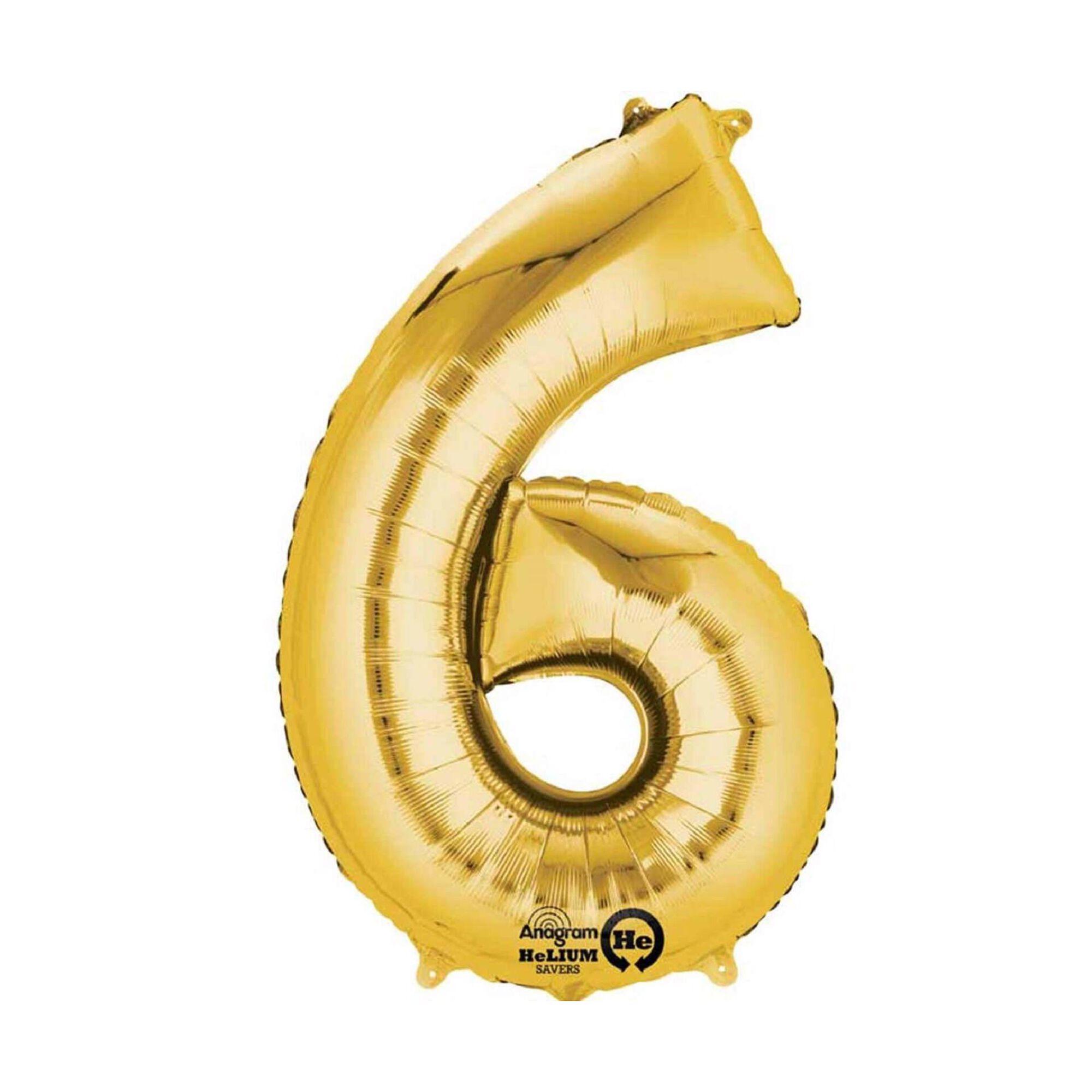 Balão Foil Nº6 40cm Dourado