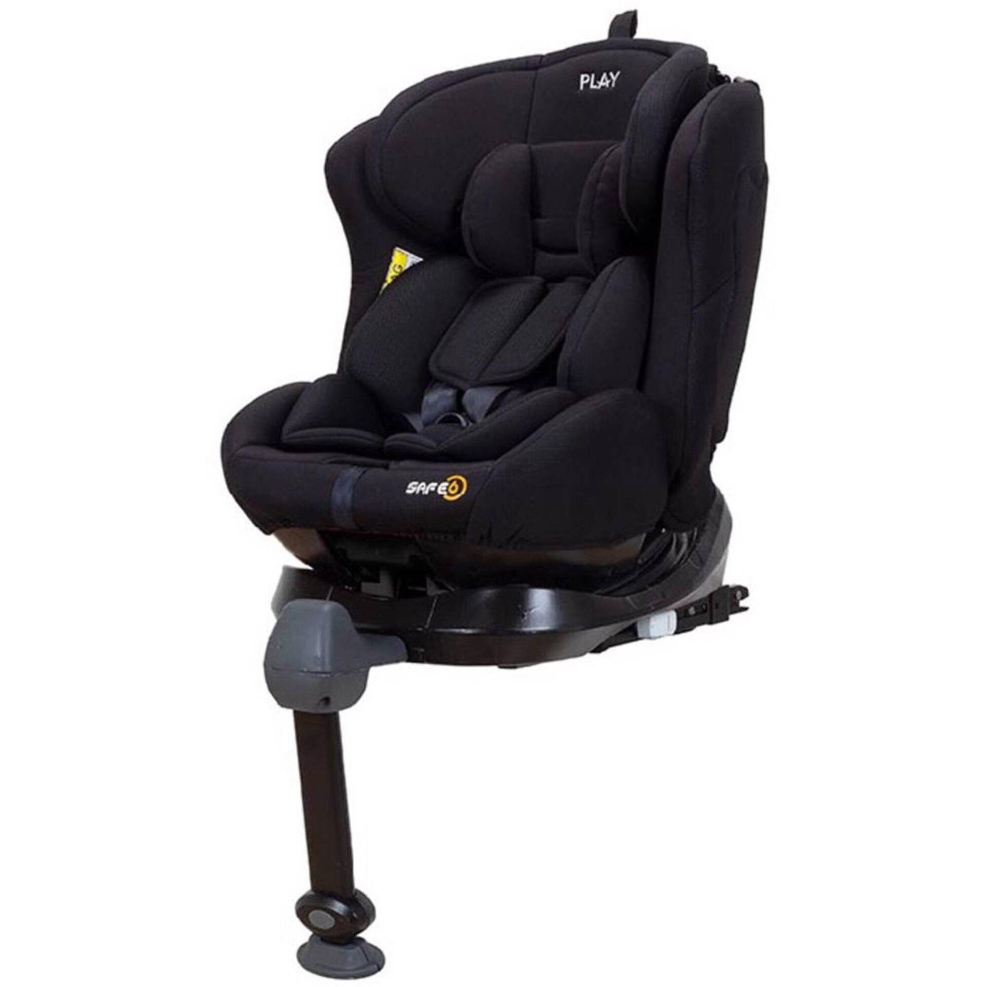 Cadeira Auto Grupo 0+/1/2/3 Isofix Rotativa 360° Preta Safe6