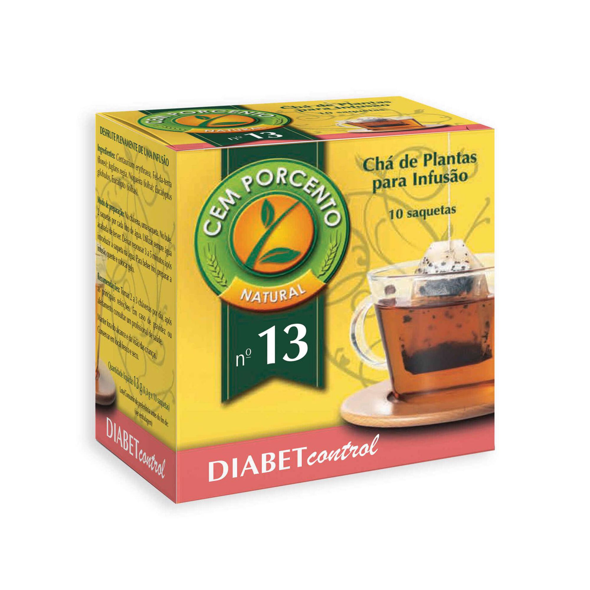 Chá Infusão Nº13 Diabet Control Saquetas