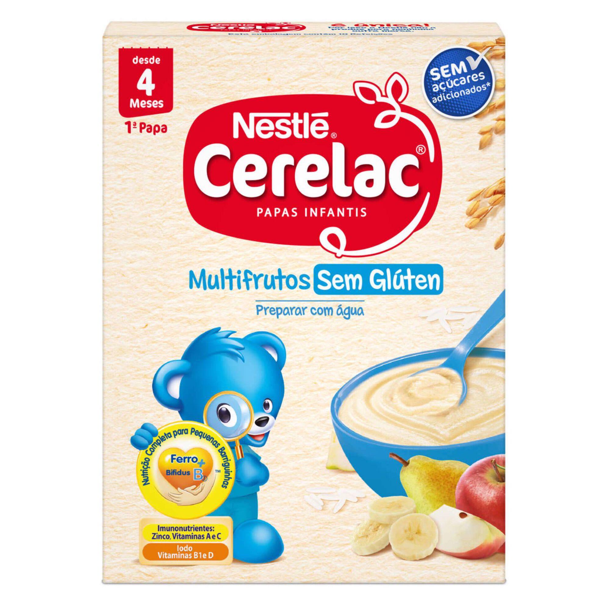 Papa Infantil Láctea Multifrutos sem Glúten +4 Meses