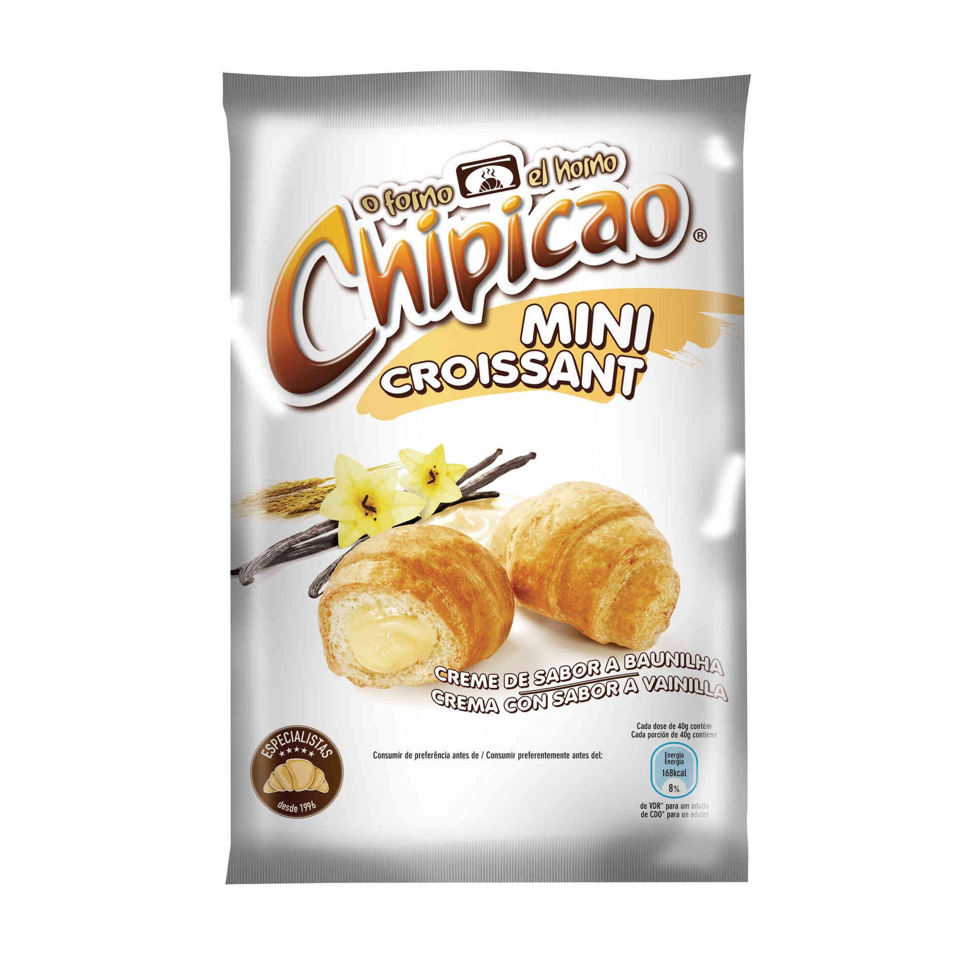 Croissants Mini com Recheio de Baunilha