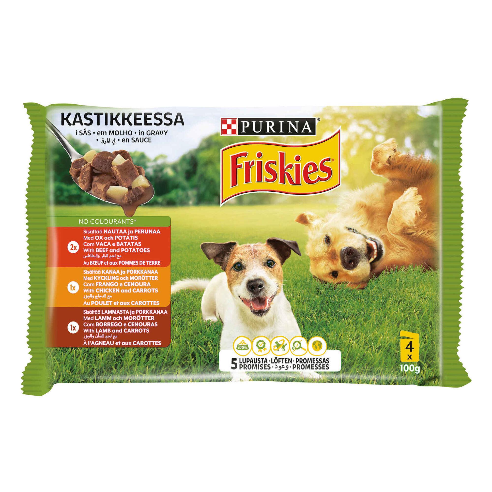 Comida Húmida para Cão Adulto Frango, Vaca, Borrego Saquetas