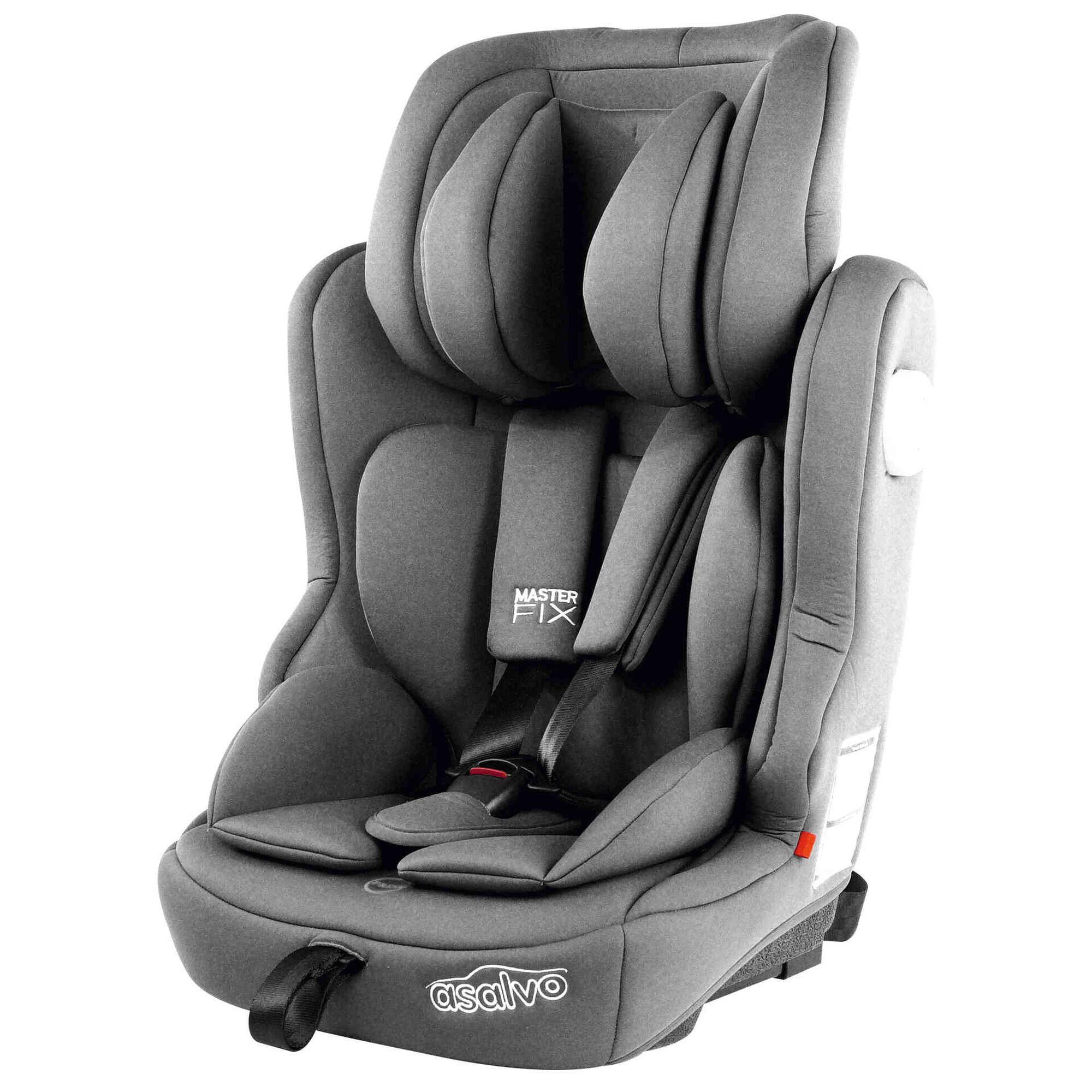 Cadeira Auto Grupo 1/2/3 Isofix Cinza Master Iso