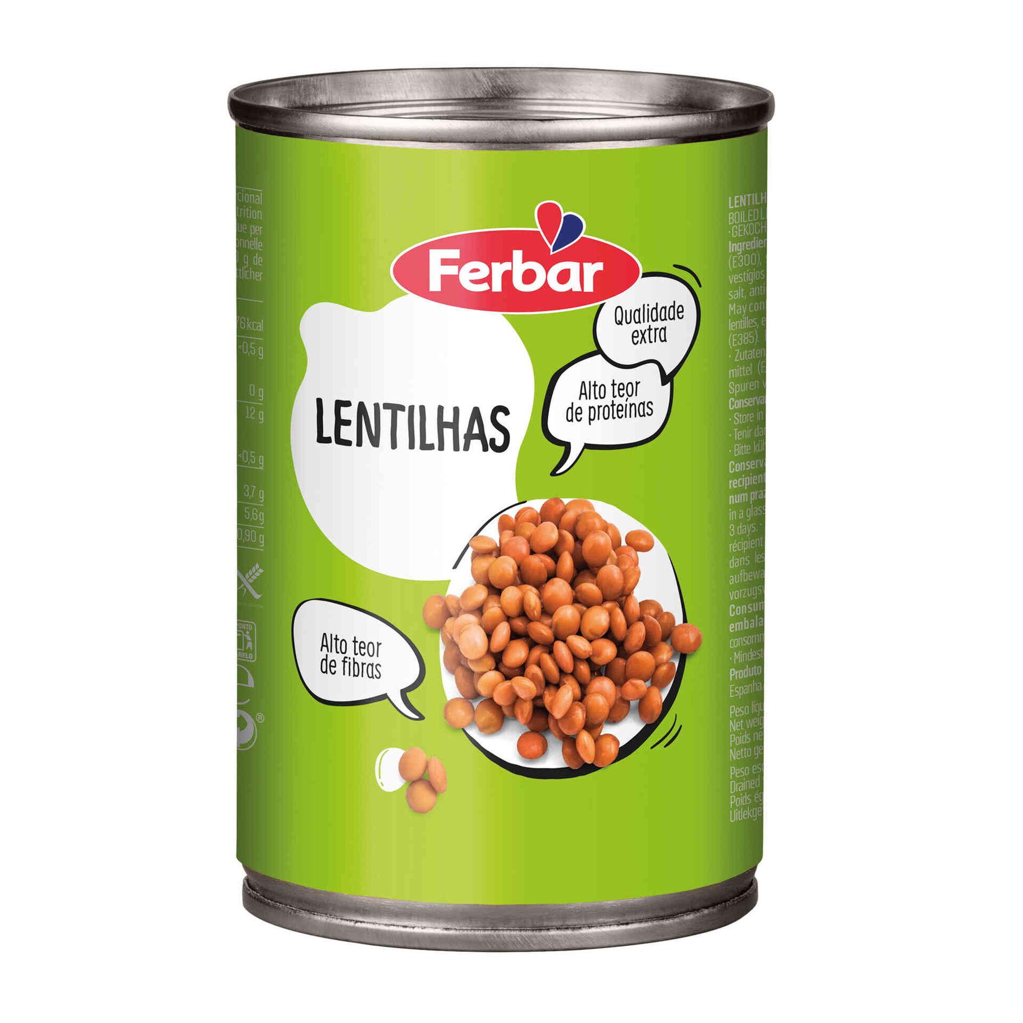 Lentilhas Cozidas