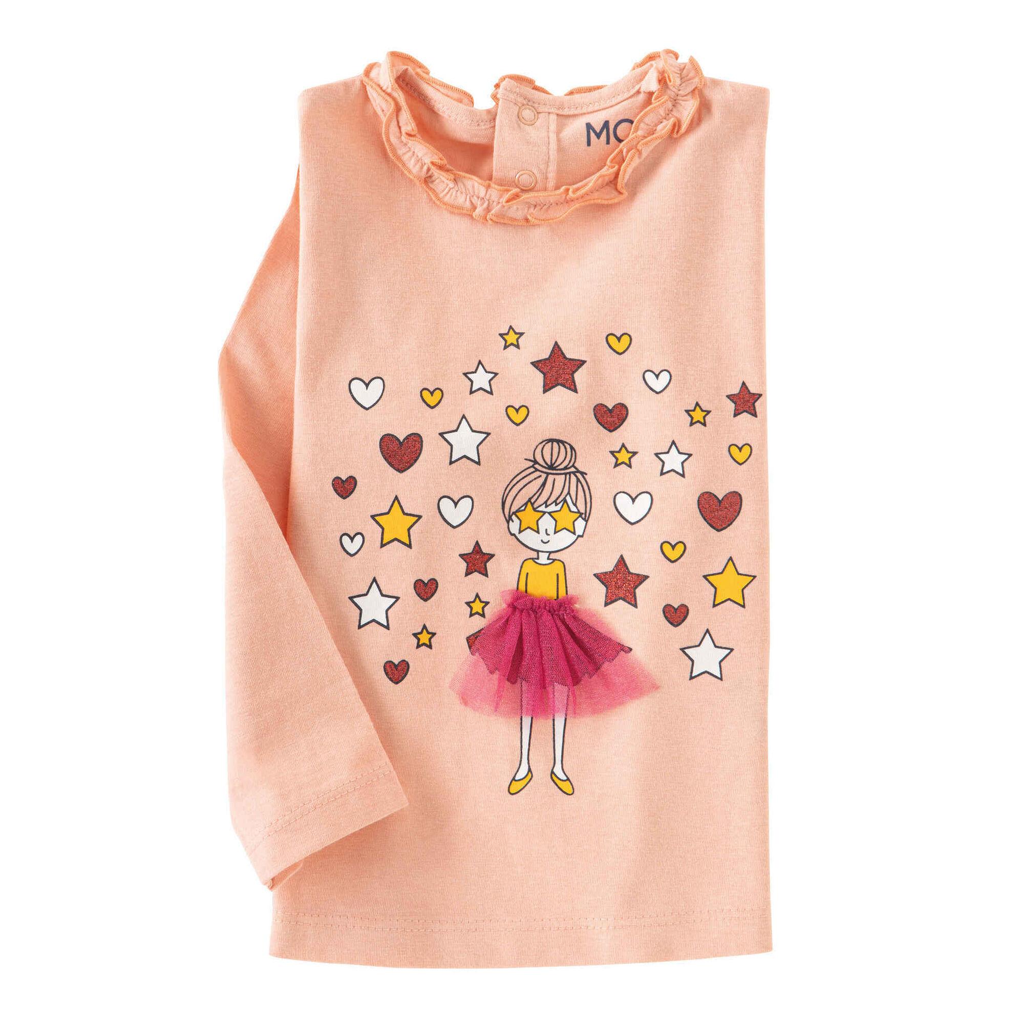 T-shirt Manga Comprida Bailarina Coral