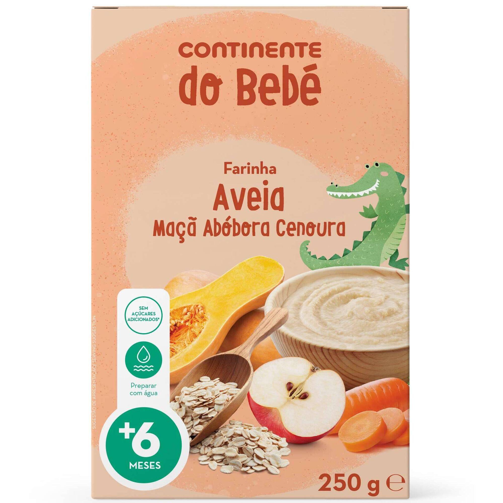 Infantil Farinha Láctea Aveia, Maçã, Abóbora e Cenoura +6 Meses