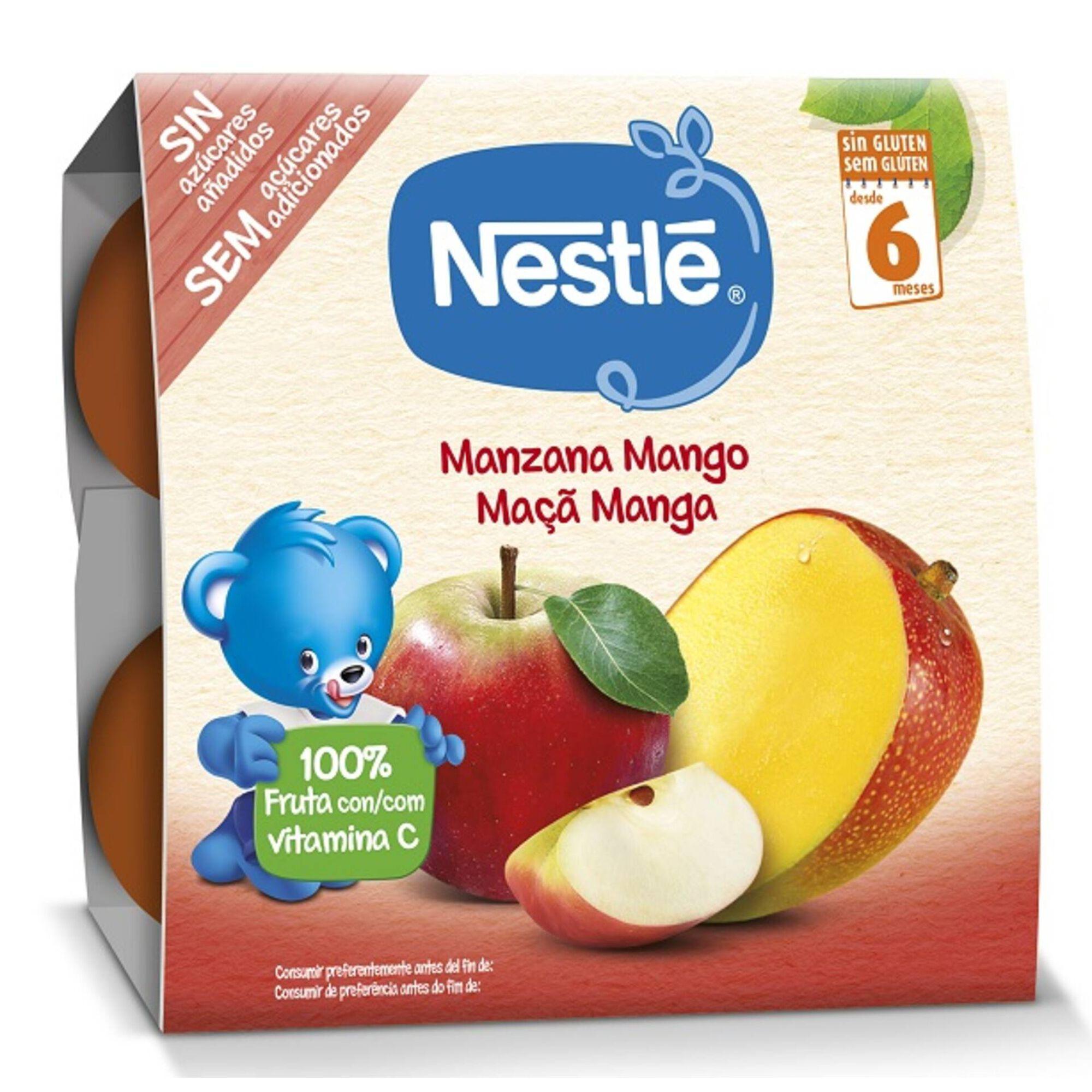 Boião de Fruta Maça e Manga sem Glúten +6 Meses