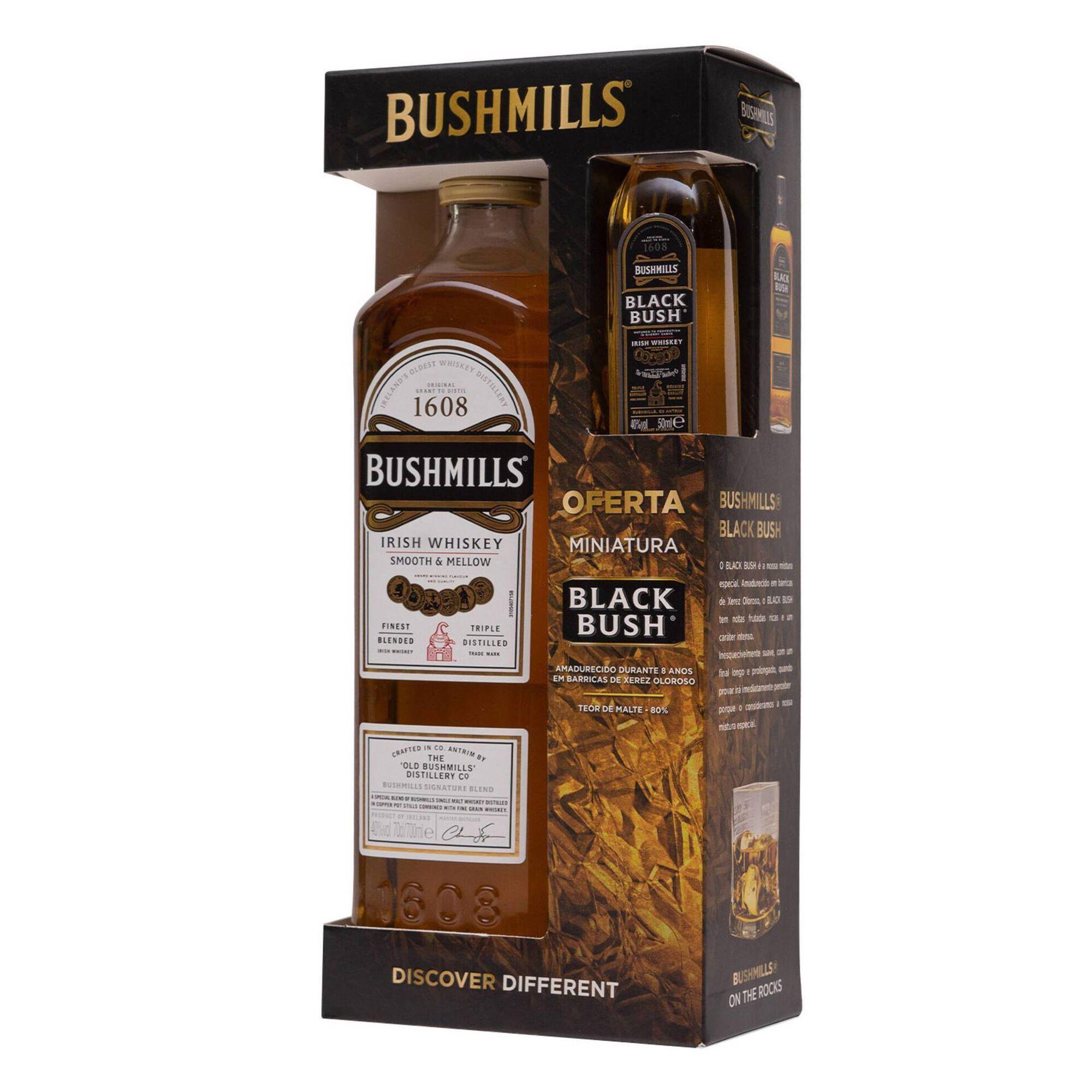 Whisky Bushmills com Oferta Blackbush