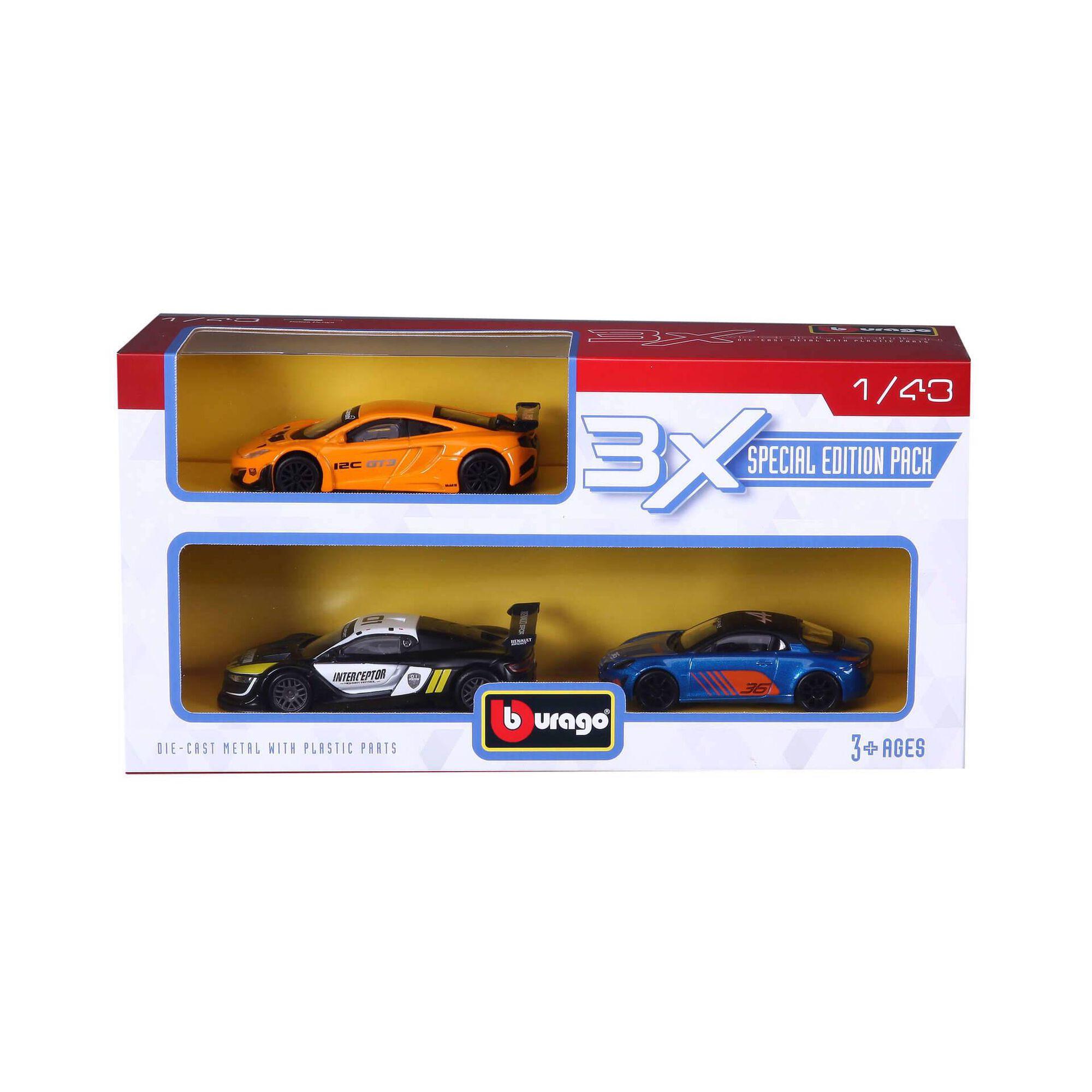 Conjunto de 3 Carros Competição