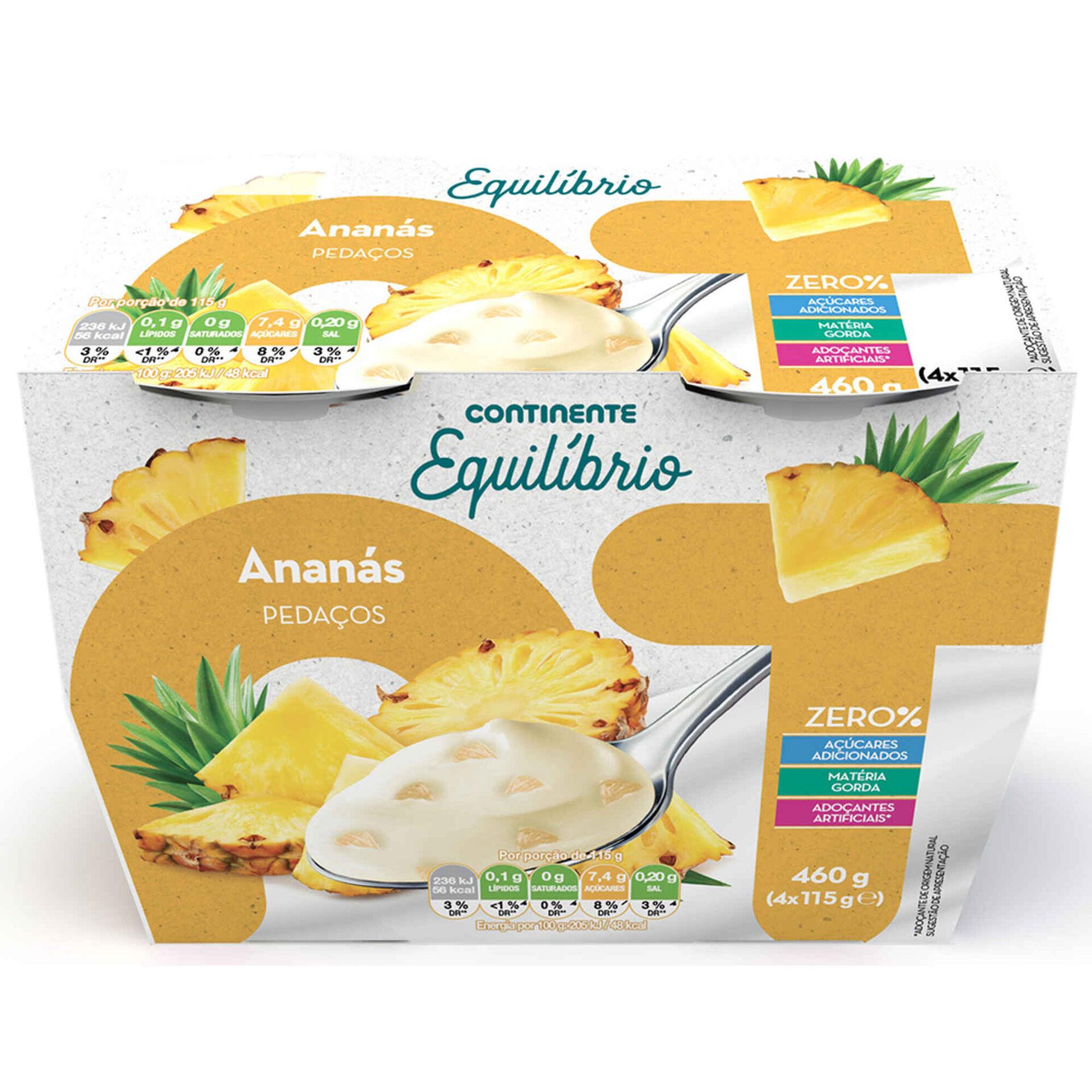 Iogurte Pedaços Zero% Ananás