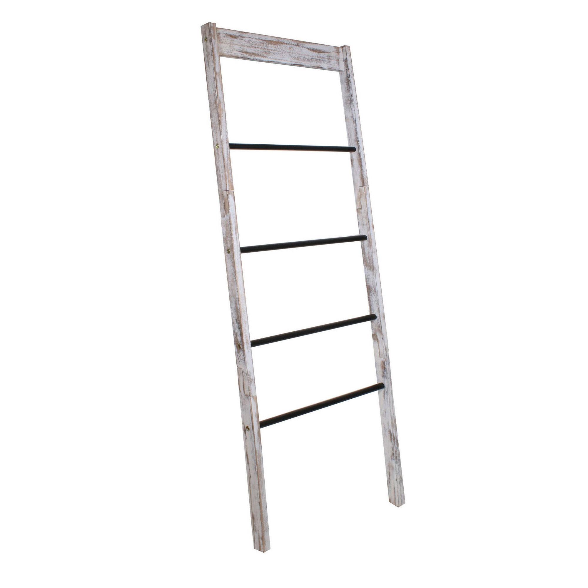 Toalheiro em Escada com 4 Varões 52x35x150cm Málaga