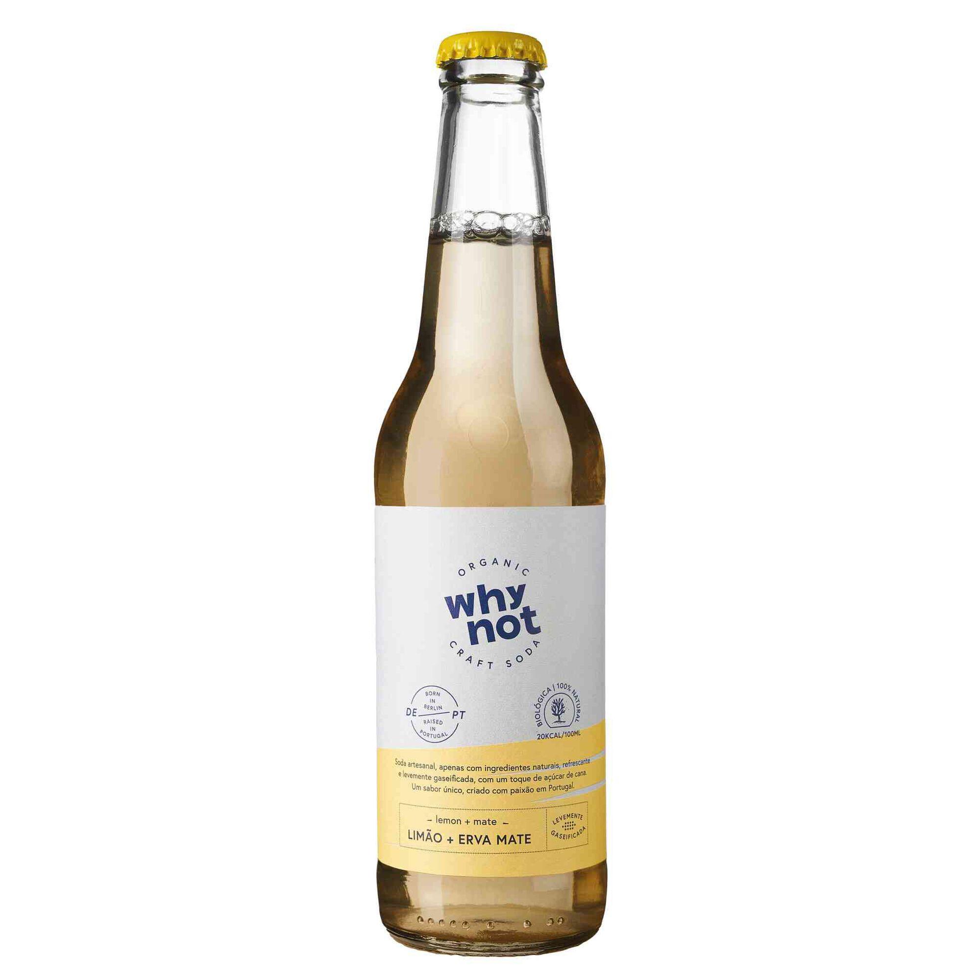 Soda Artesanal Limão e Mate Biológica