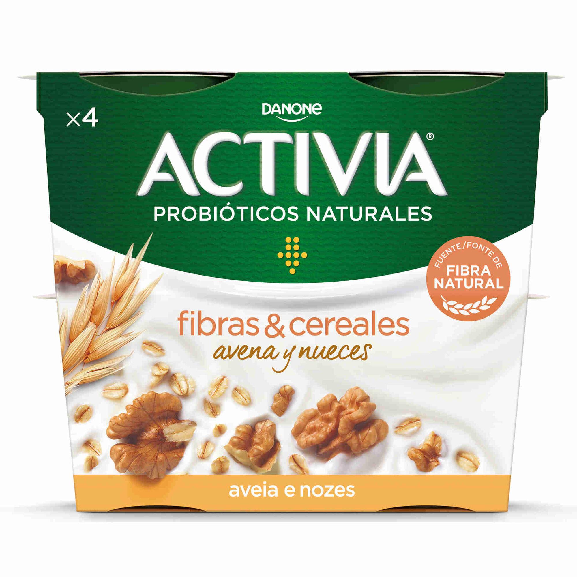 Iogurte Bifidus Pedaços Probióticos Aveia e Noz Activia