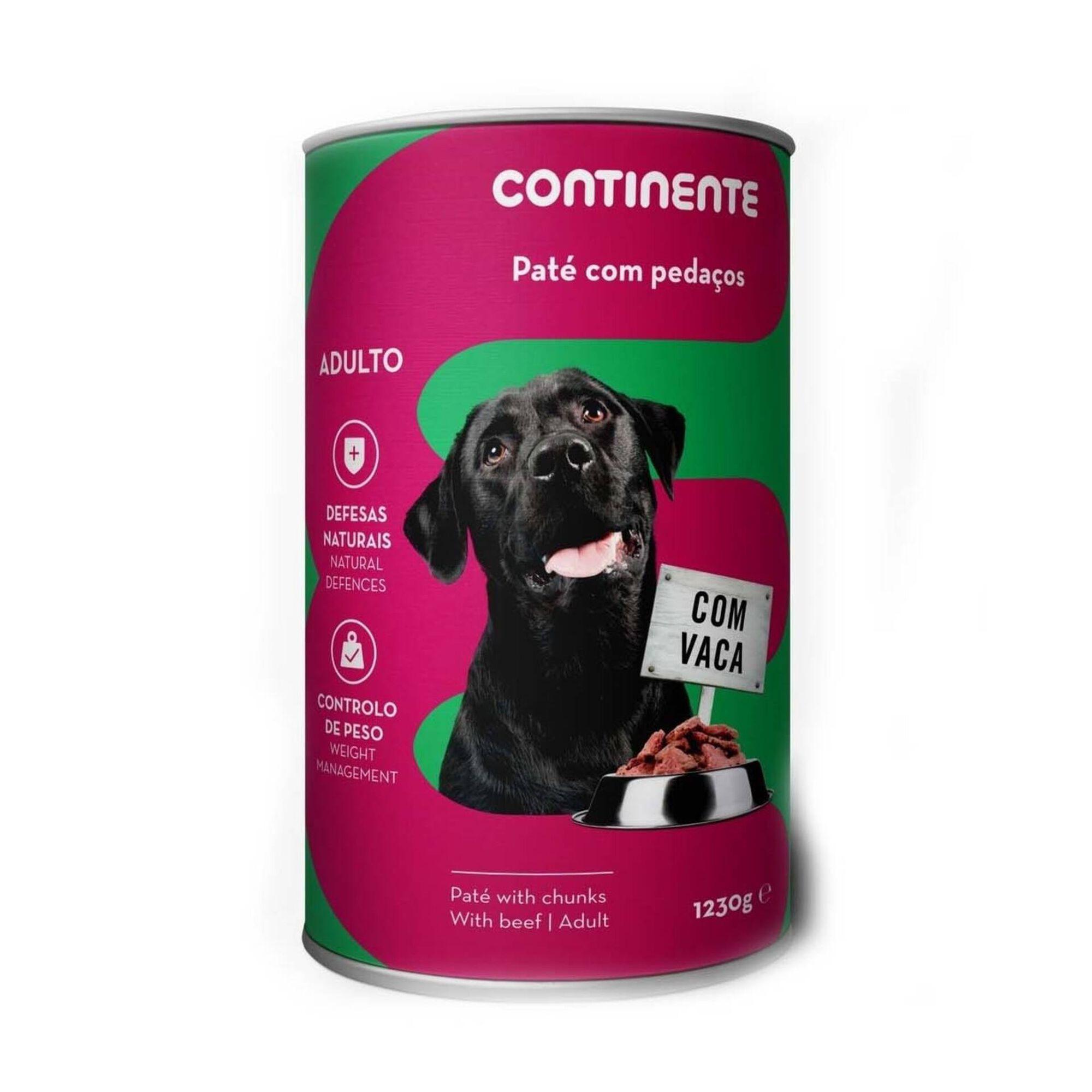 Comida Húmida para Cão Adulto Patê com Pedaços Vaca Lata, , hi-res