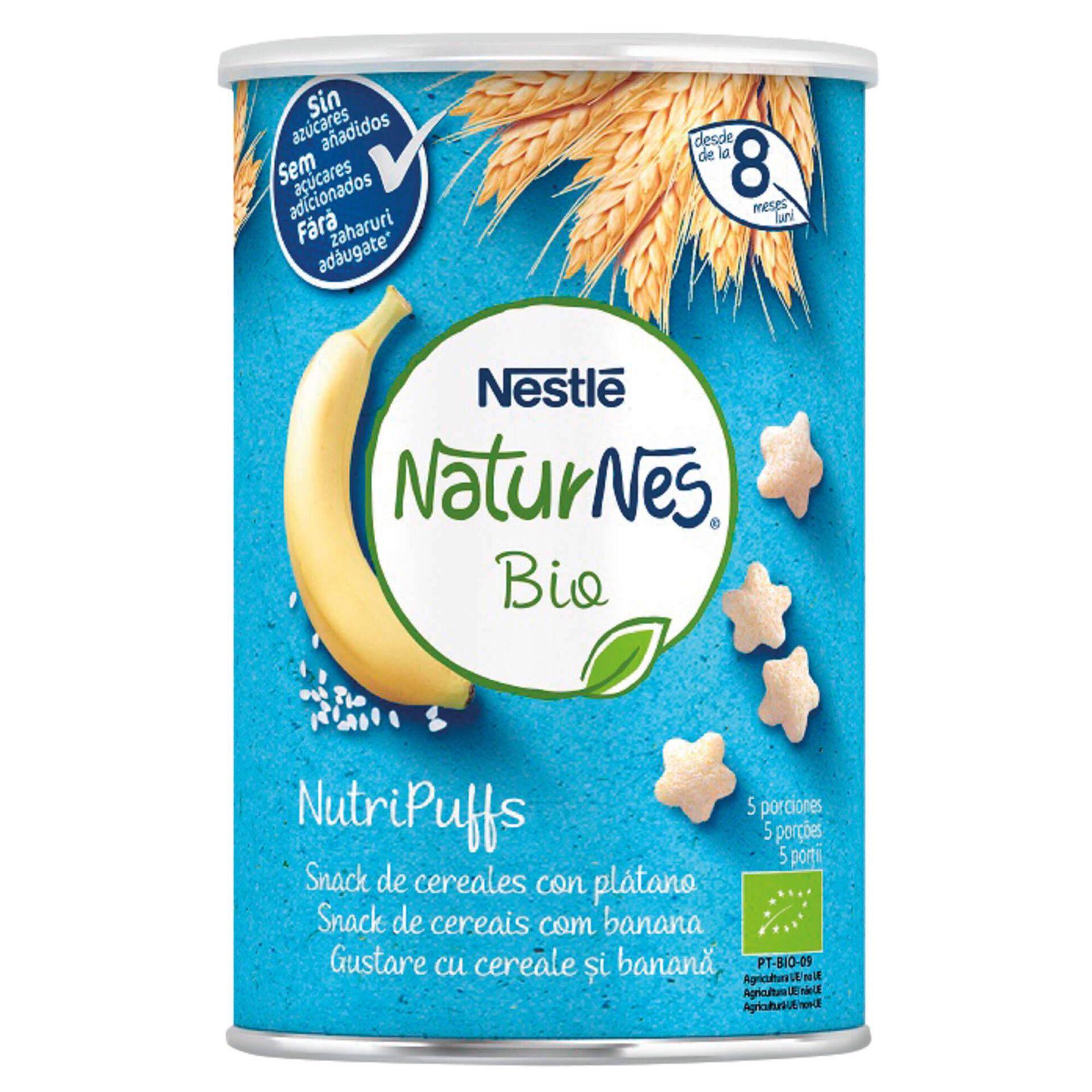 Snack para Bebé Banana Naturnes Bio +8 Meses