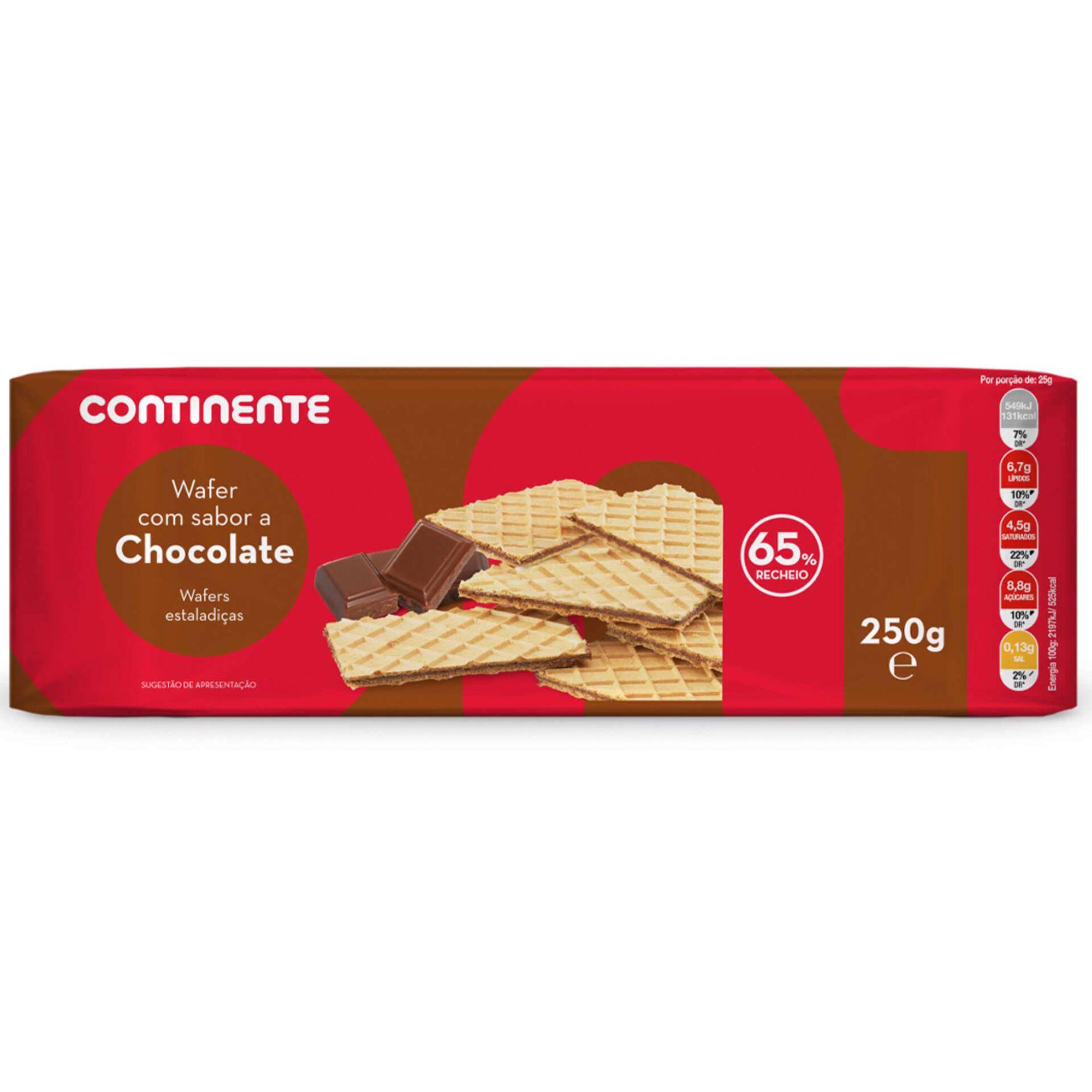 Bolachas Wafers com Recheio de Chocolate