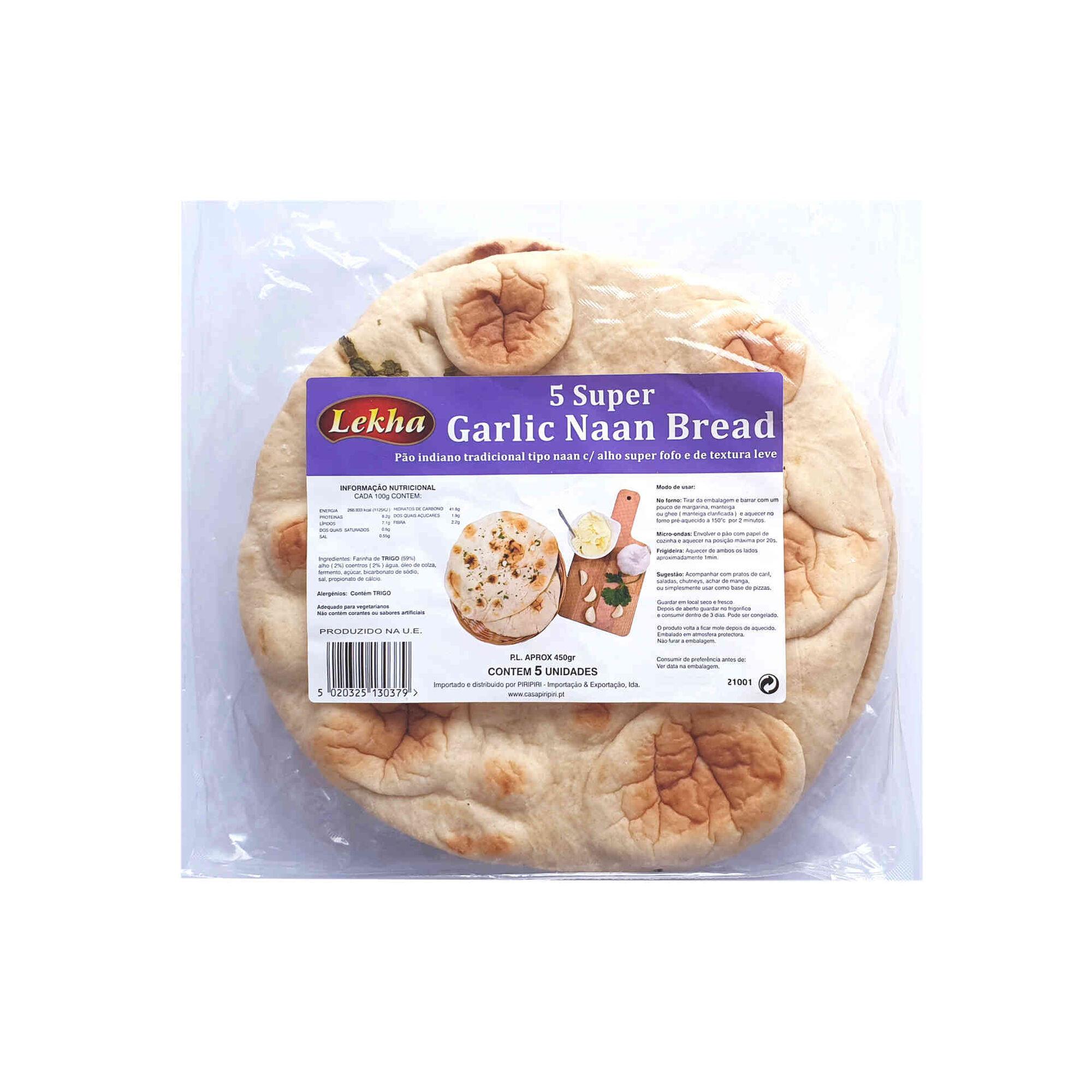 Pão Indiano tipo Naan com Alho
