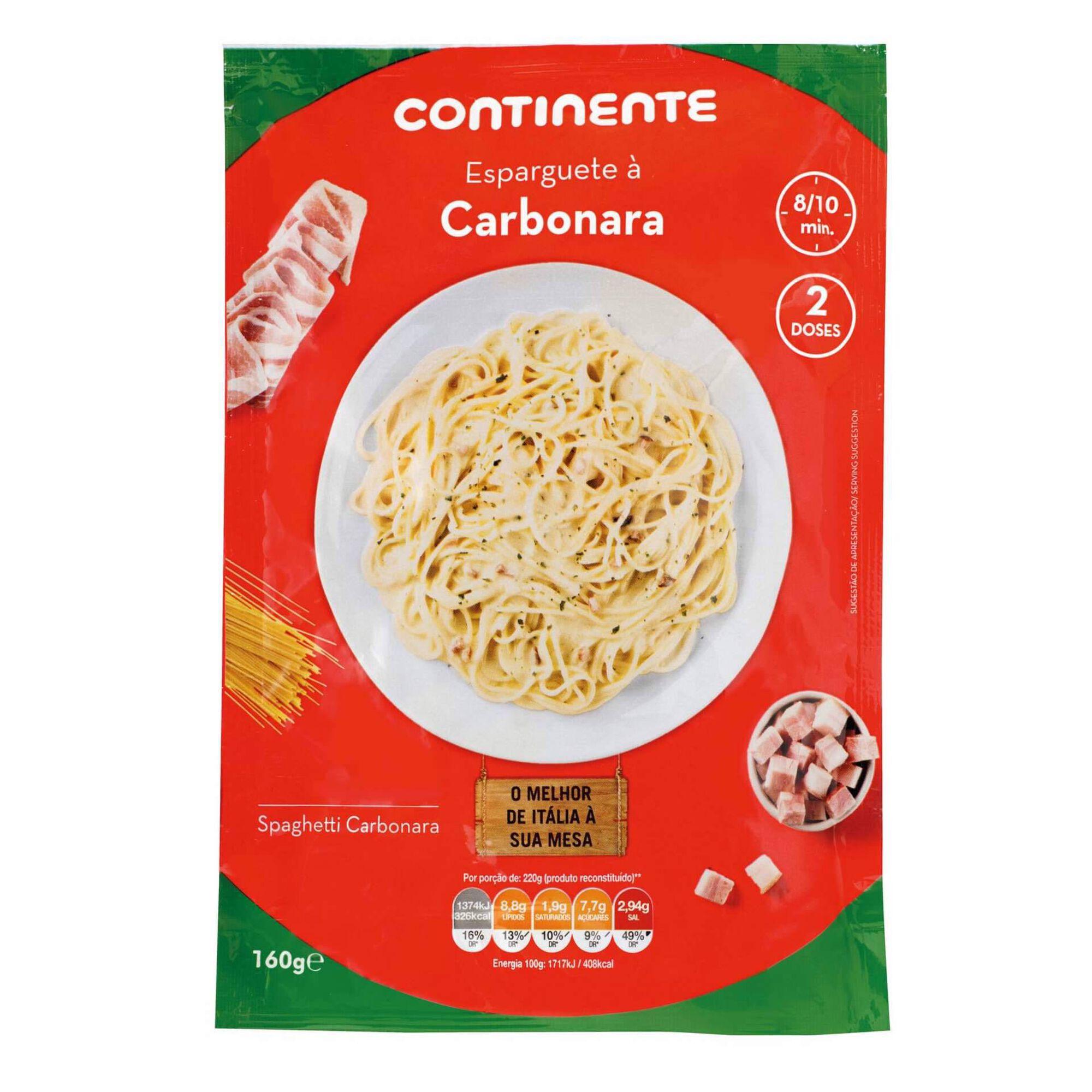 Massa Esparguete à Carbonara