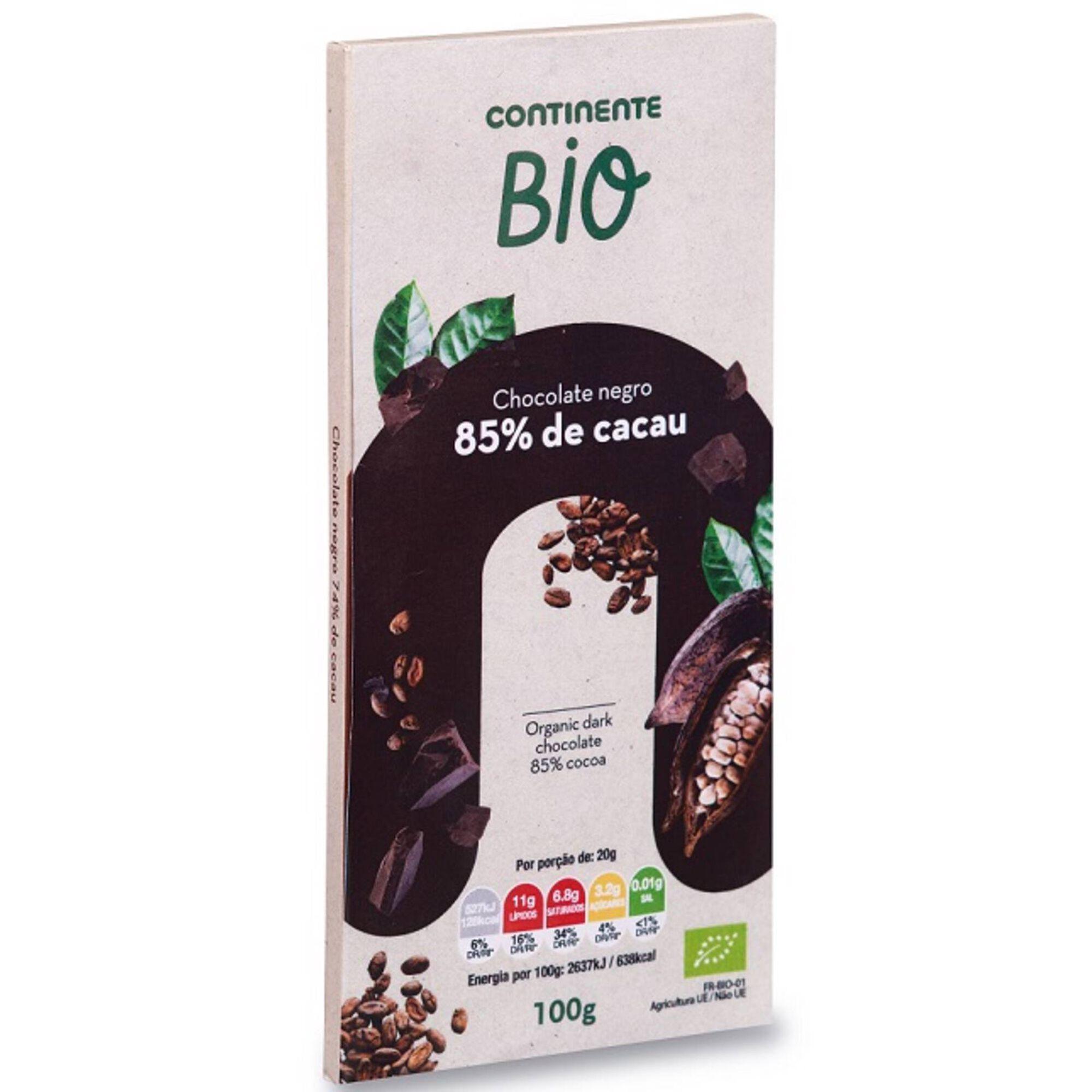 Chocolate Negro 85% Cacau Biológico