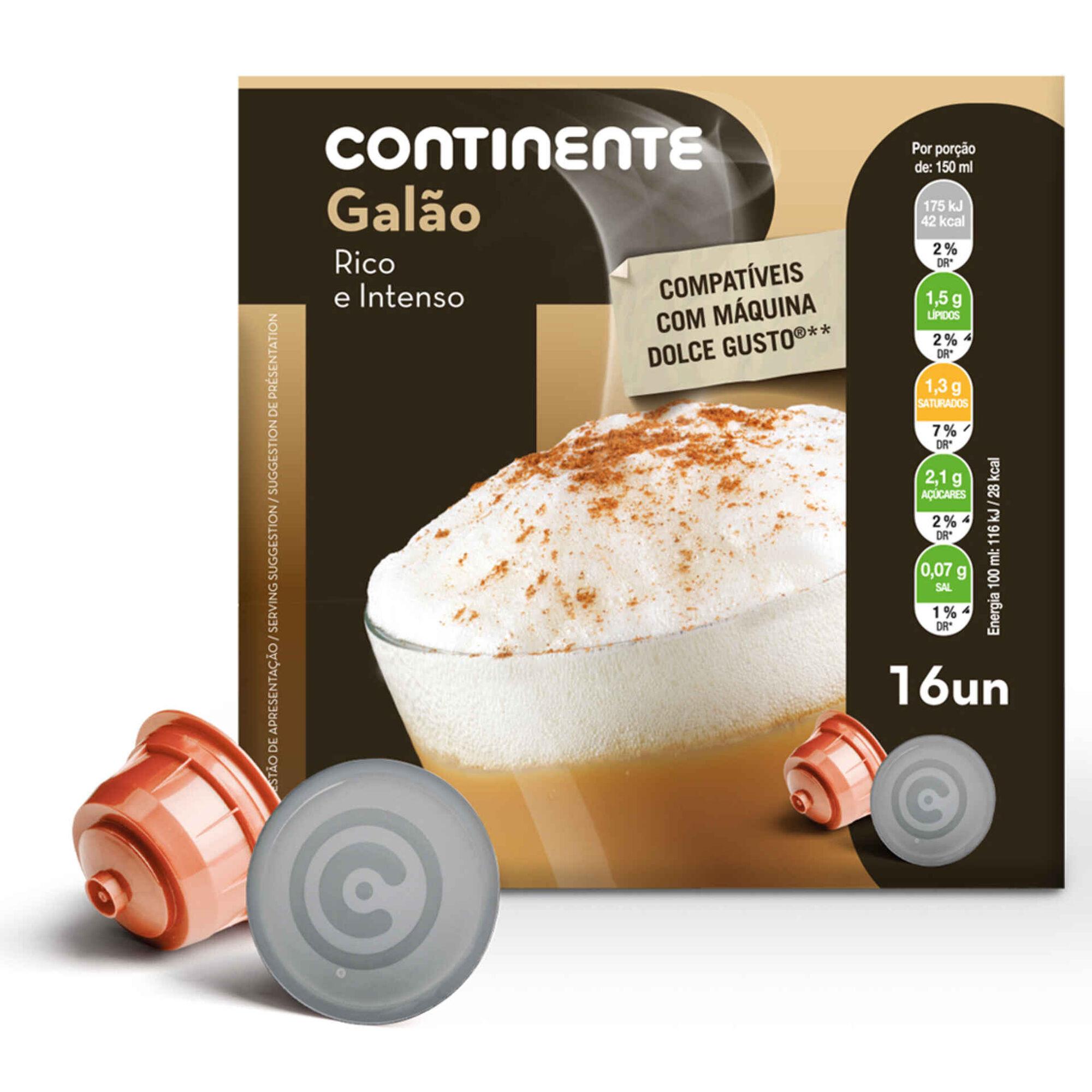 Cápsulas de Café Galão Compatível com Dolce Gusto