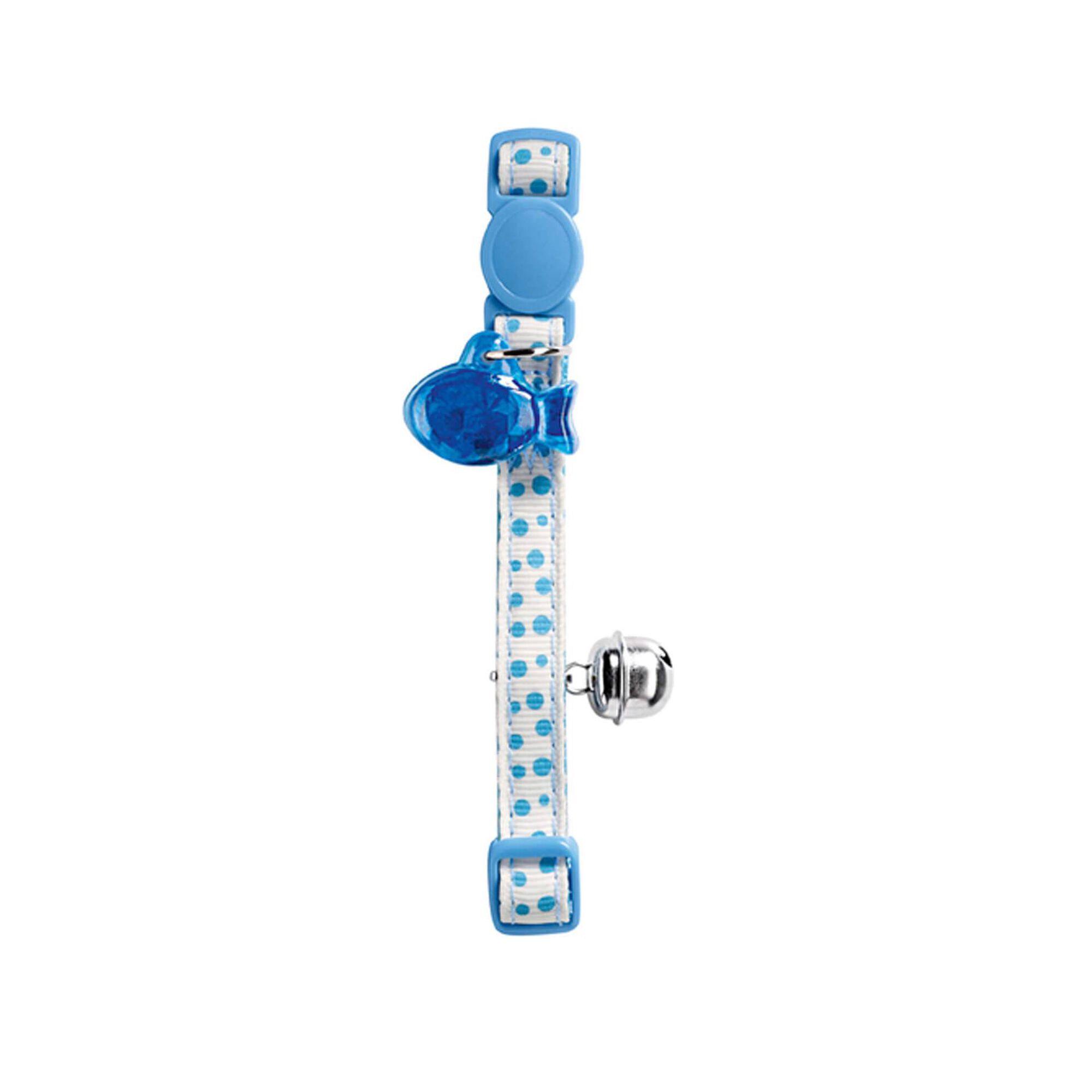 Coleira para Gato Pet+Fecho Baby Dots Azul