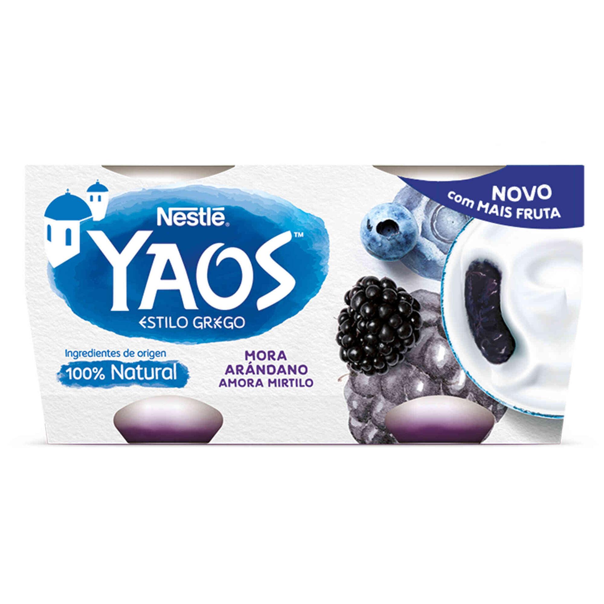 Iogurte Grego Yaos Amora e Mirtilo