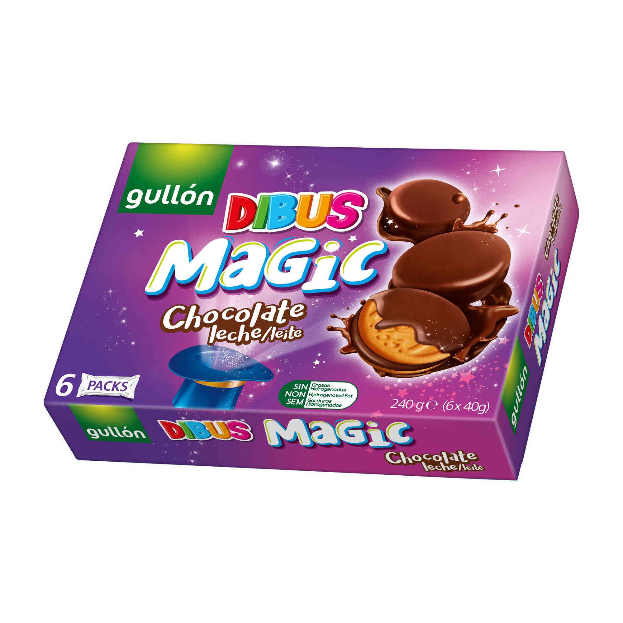 Bolachas Dibus Magic Cobertas com Chocolate de Leite