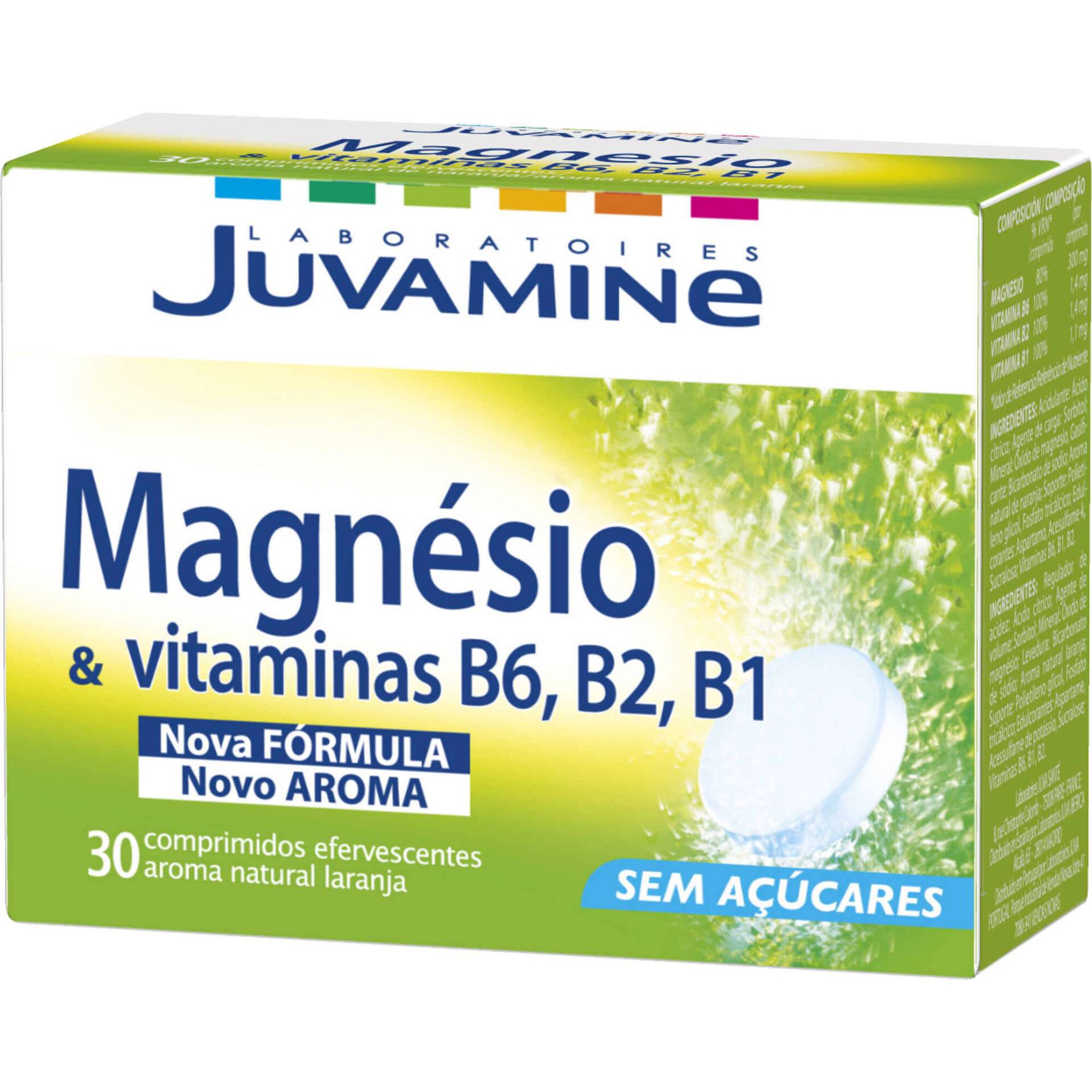 Suplemento Alimentar Magnésio e Vitaminas B6,B2,B1