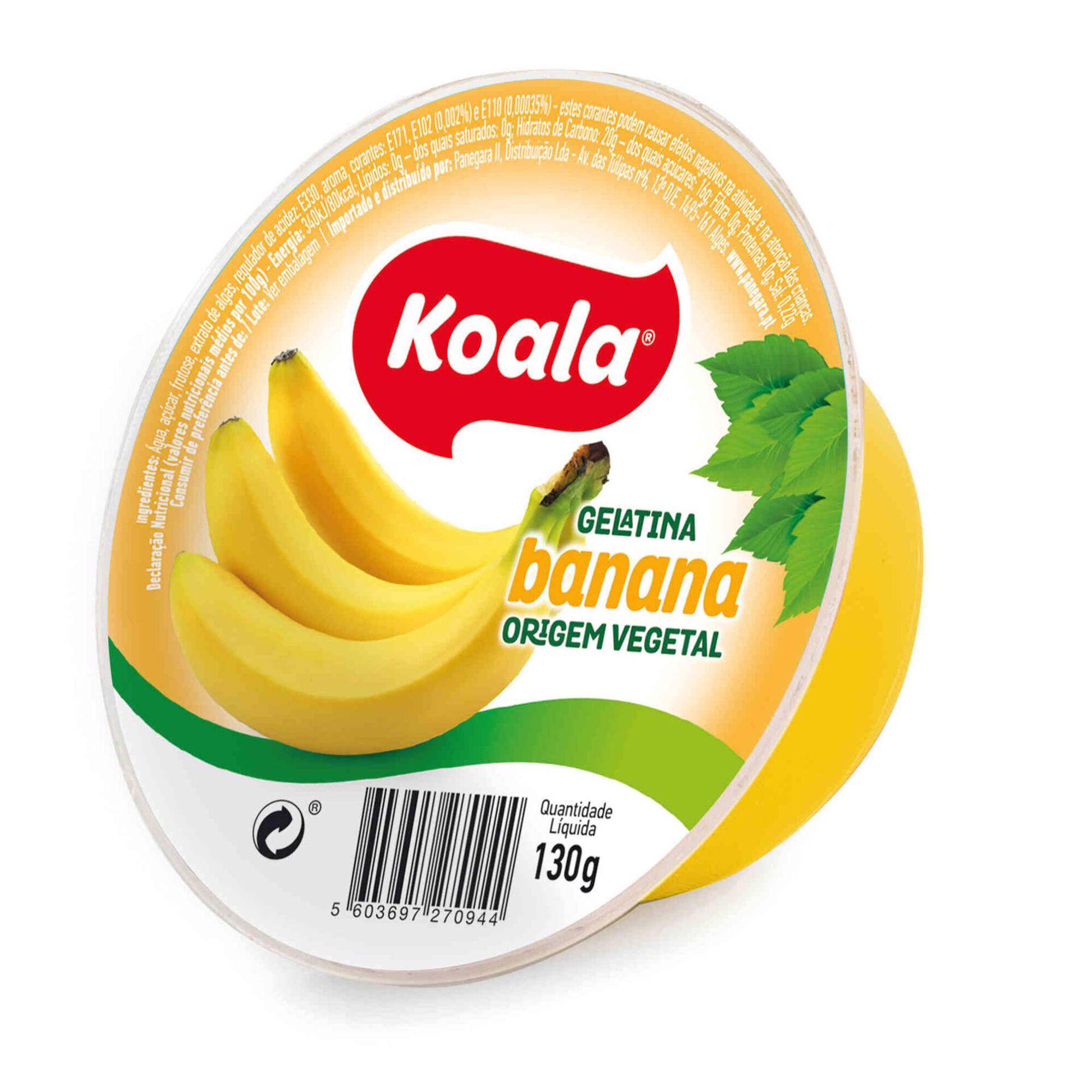 Gelatina Pronta de Banana