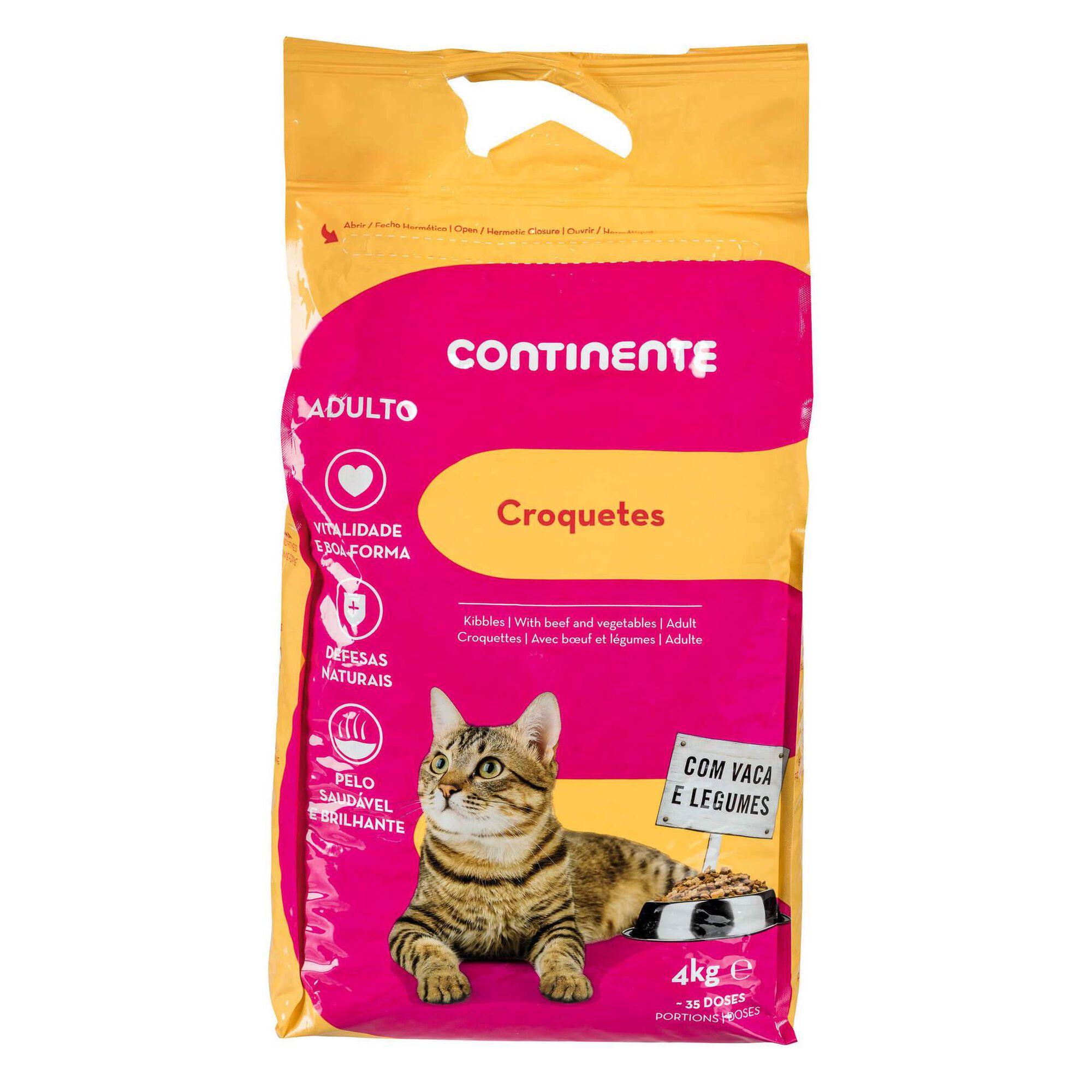 Ração para Gato Adulto Croquetes Vaca e Legumes