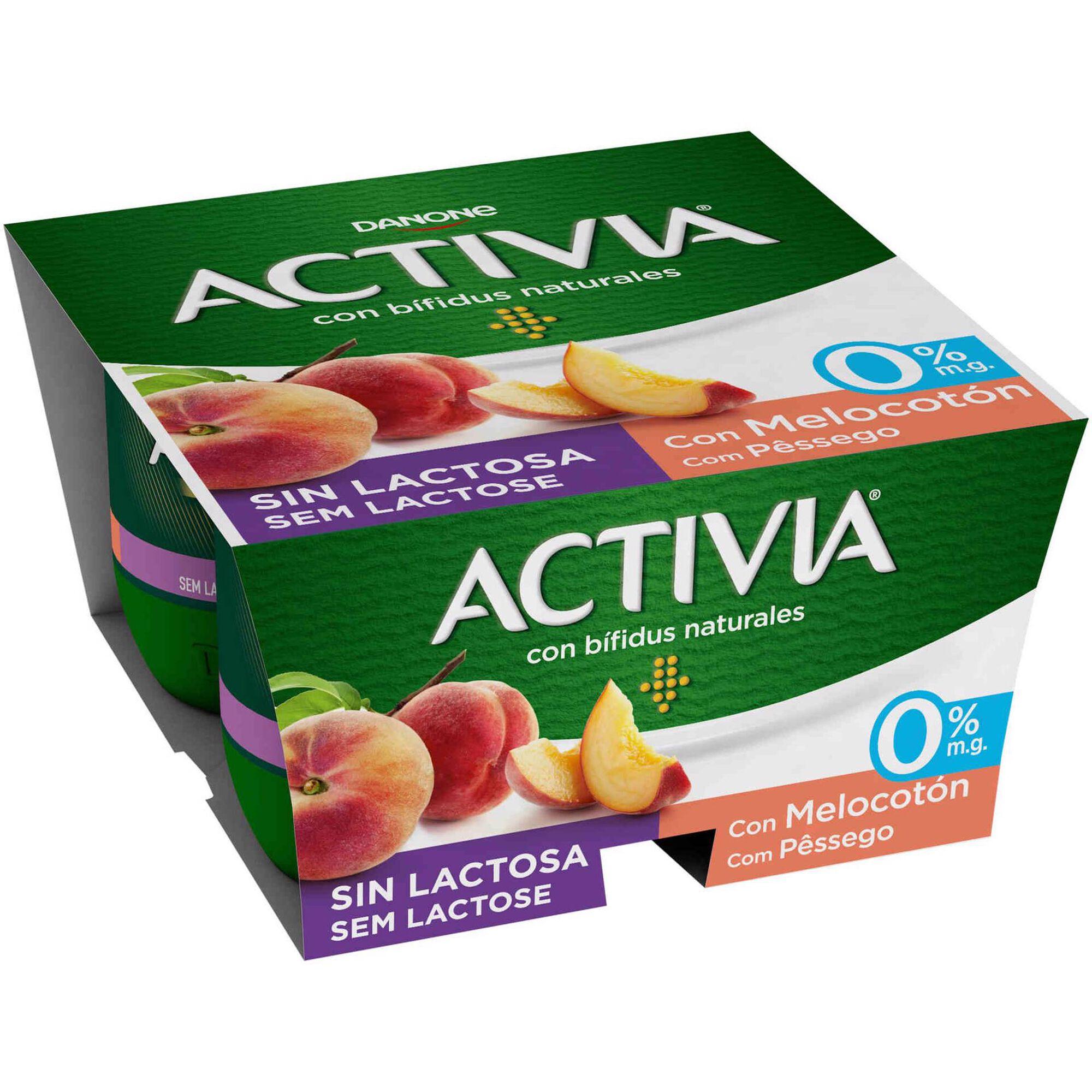 Iogurte Bifidus Sólido Pêssego Activia sem Lactose