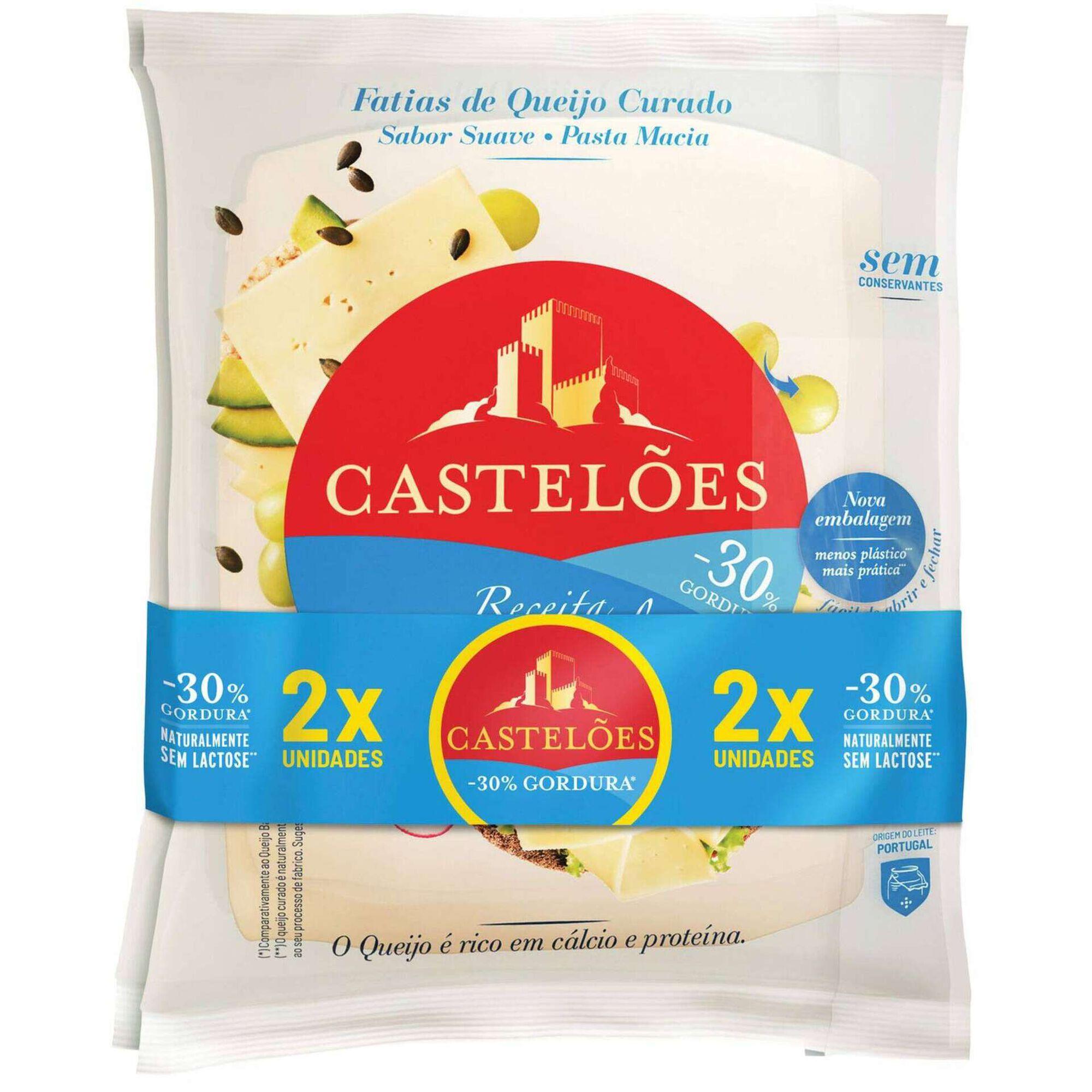 Queijo sem Lactose -30% de Gordura Fatiado